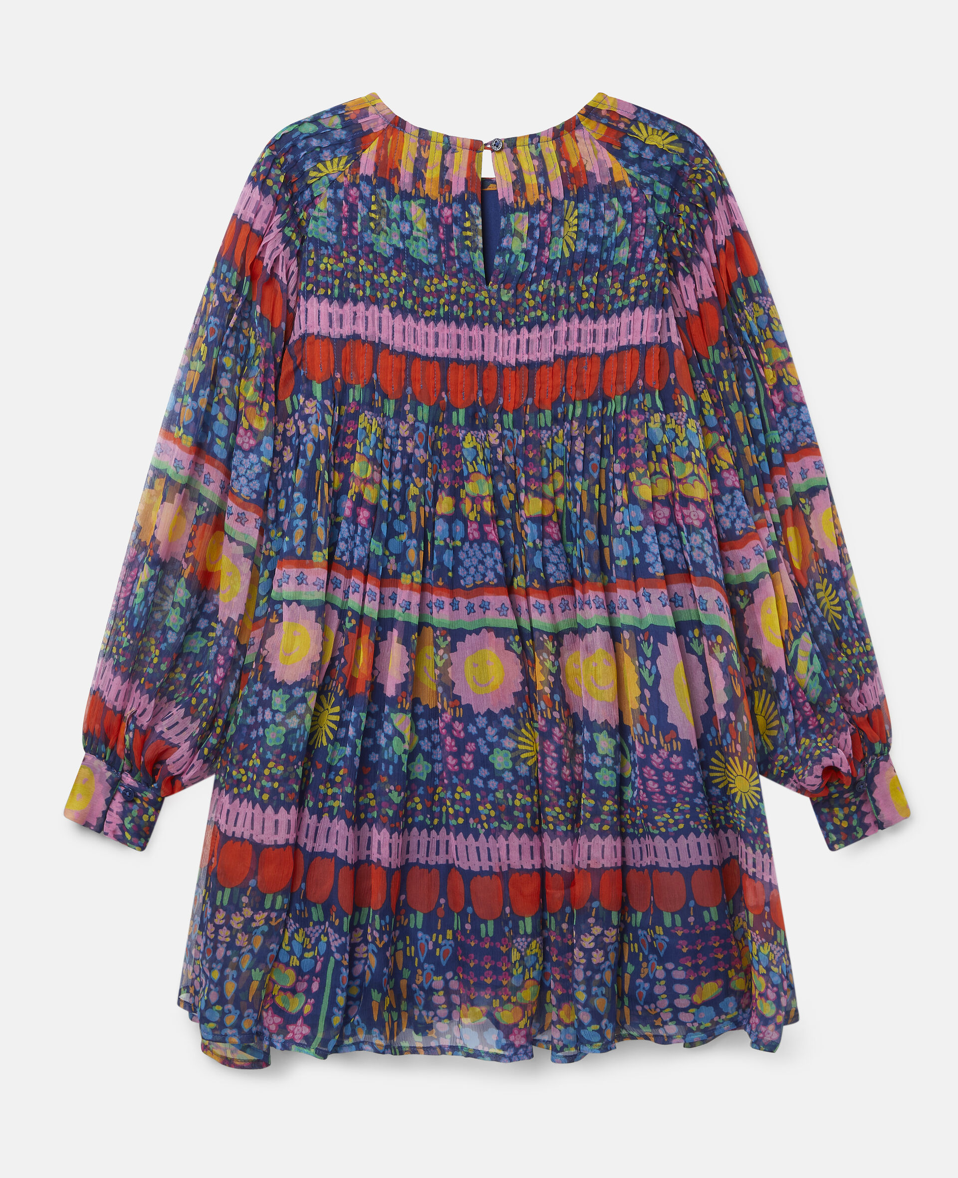 Georgette Silk Dress-Multicolour-large image number 3