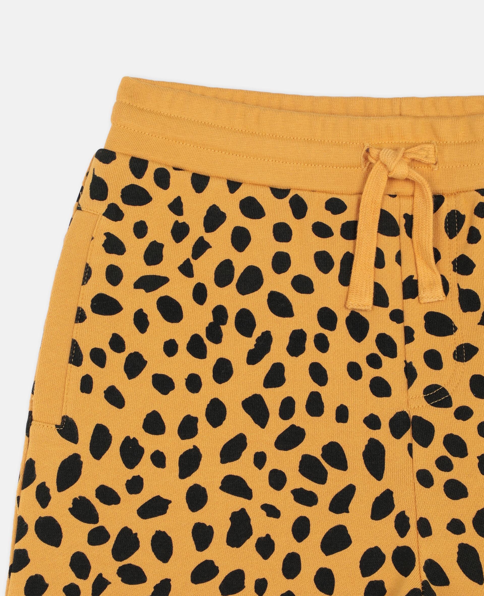 Cheetah Dots Cotton Shorts -Multicolour-large image number 1