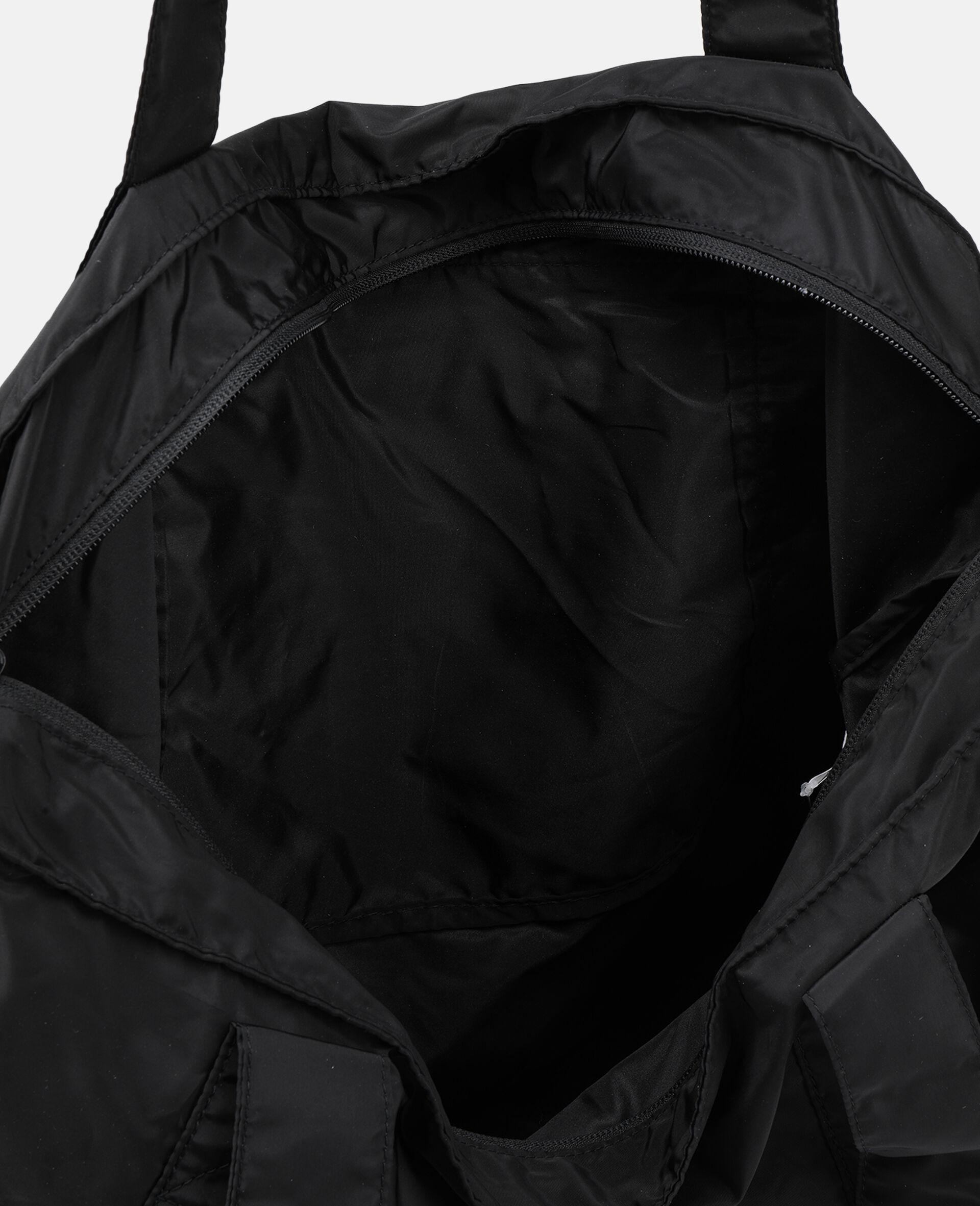 Black Printed Tote Bag -Black-large image number 2