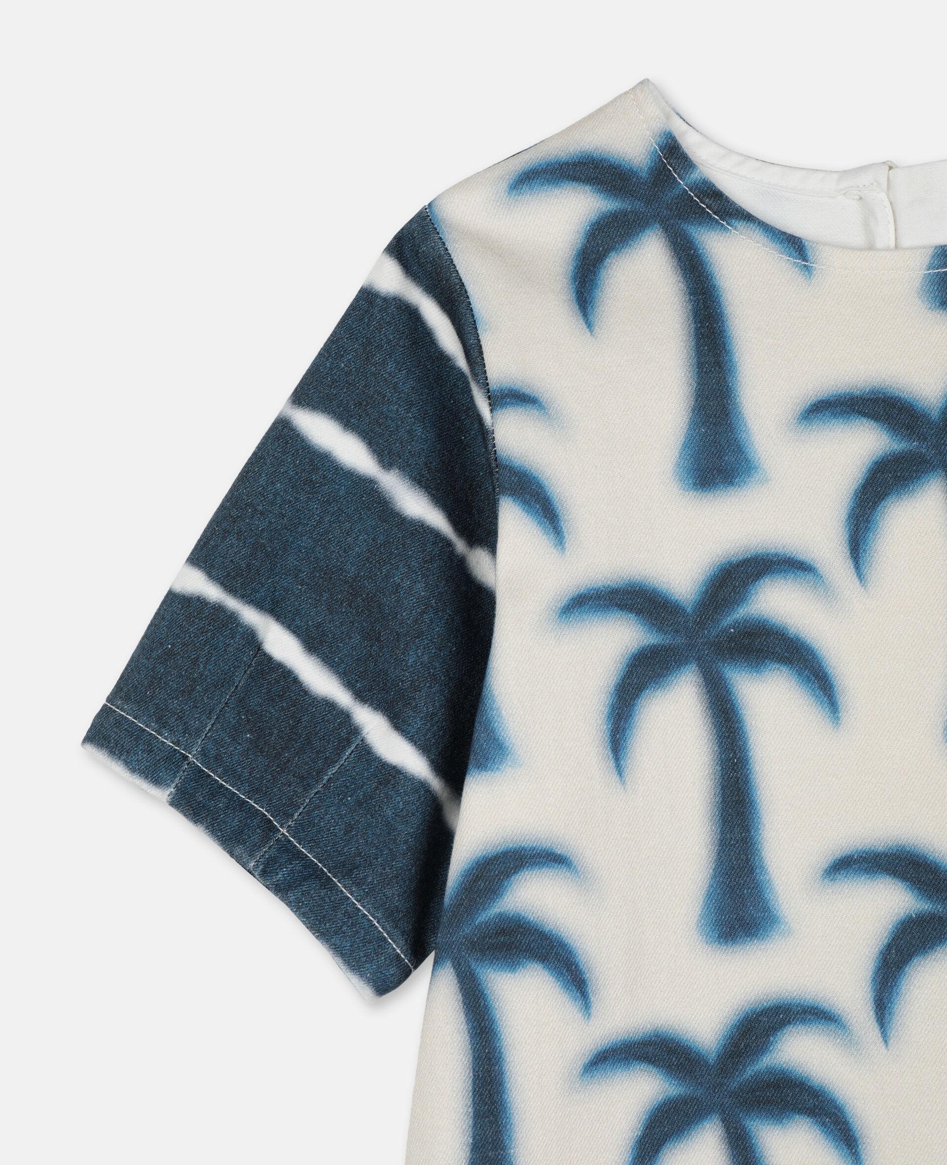 Palms Denim Dress-Blue-large image number 1