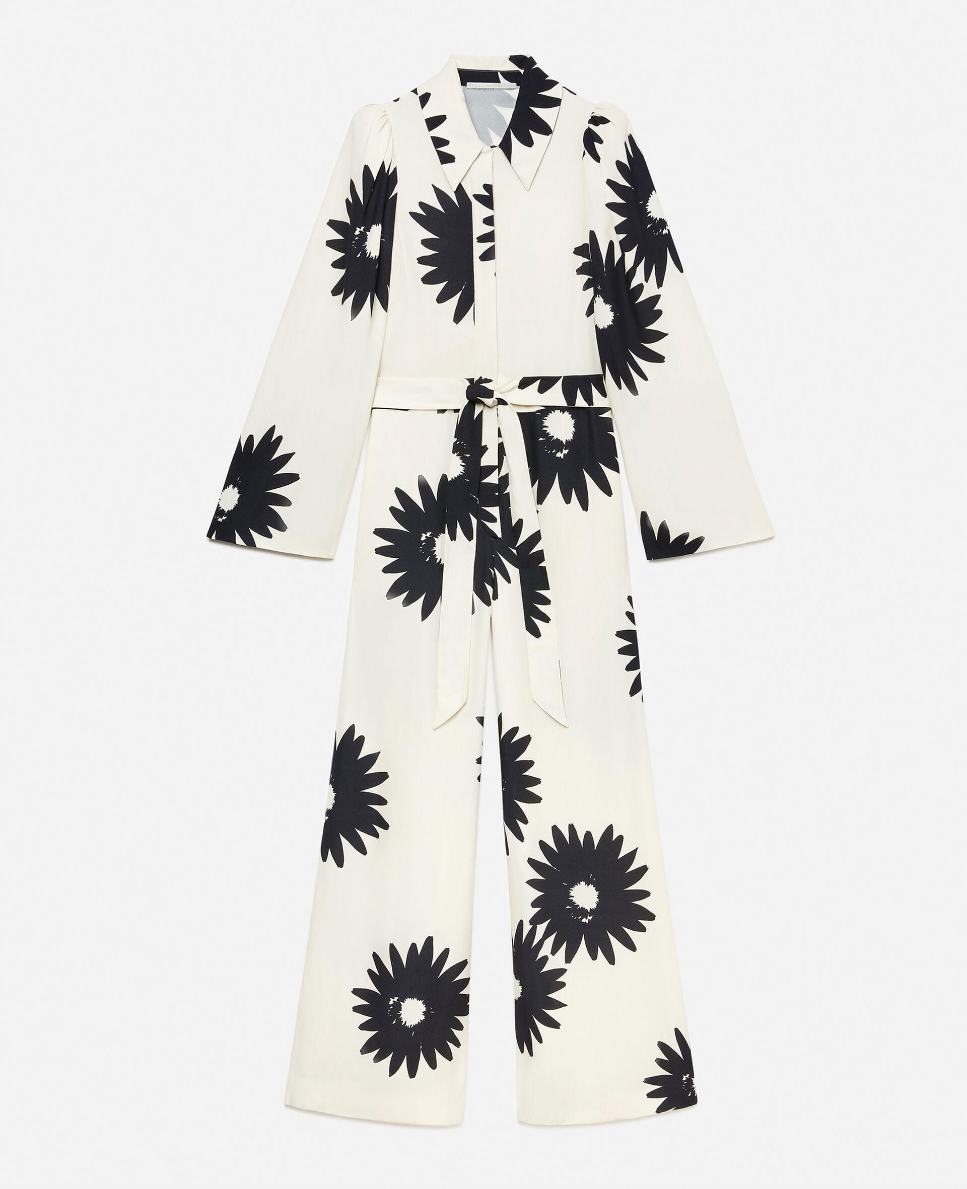 Elle Flloral Jumpsuit-White-large image number 1