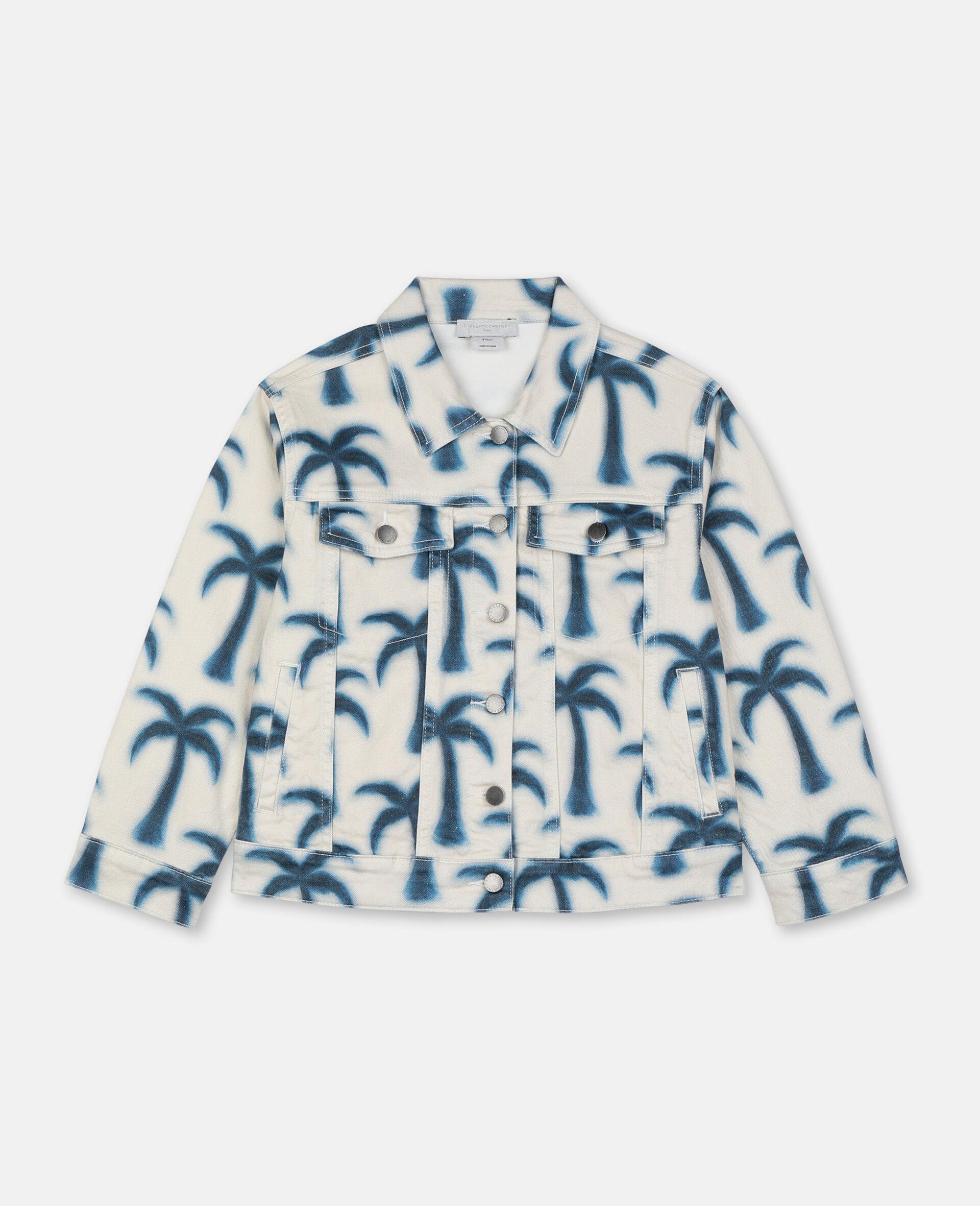 Denimjacke mit Palmen -Blau-large image number 0