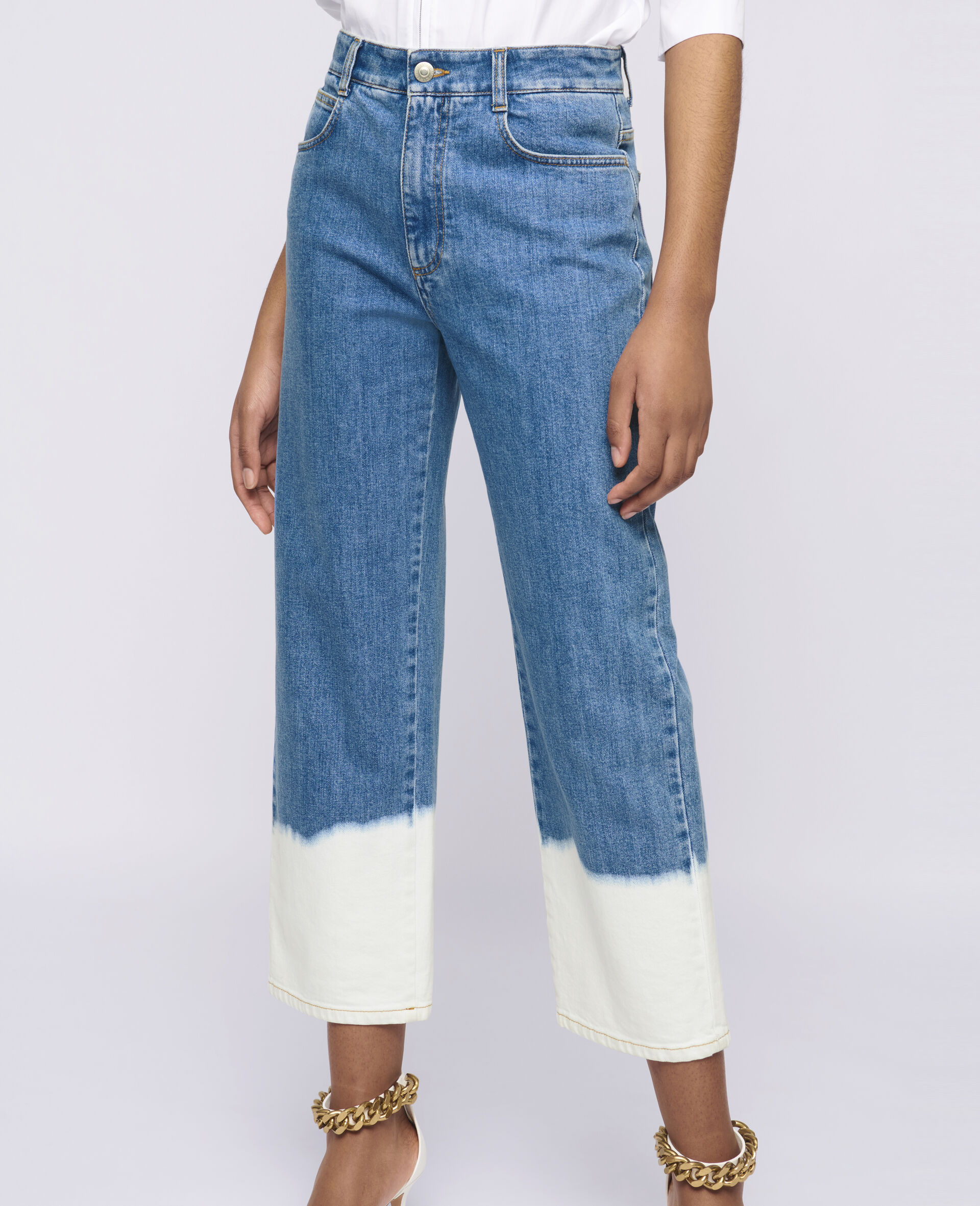 Dip Faded Jeans -Blue-large image number 3