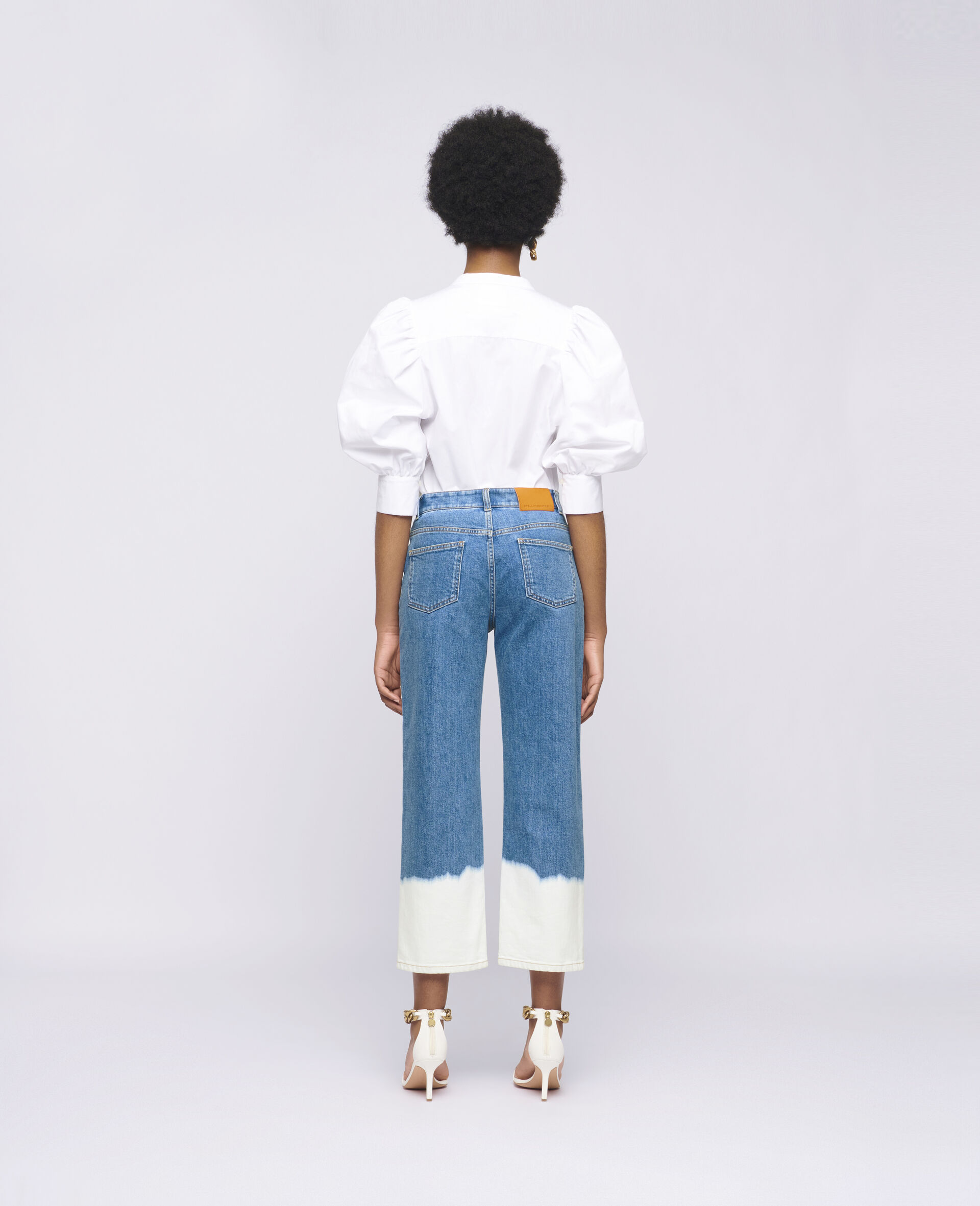 Dip Faded Jeans -Blue-large image number 2