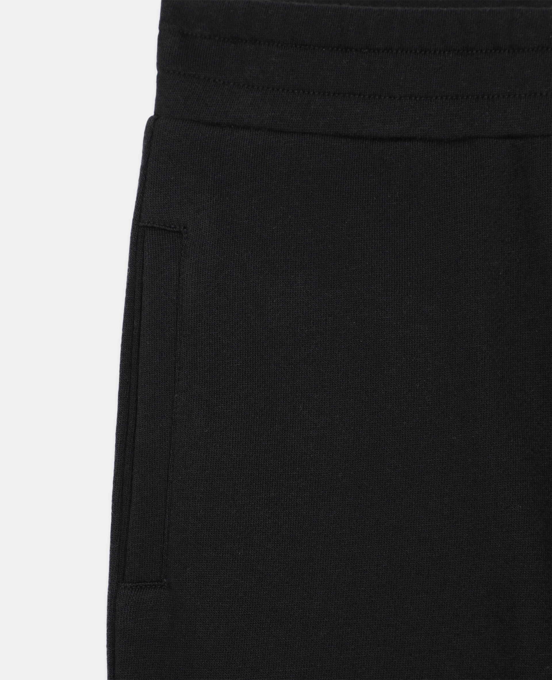 Basic 棉质运动裤 -黑色-large image number 1