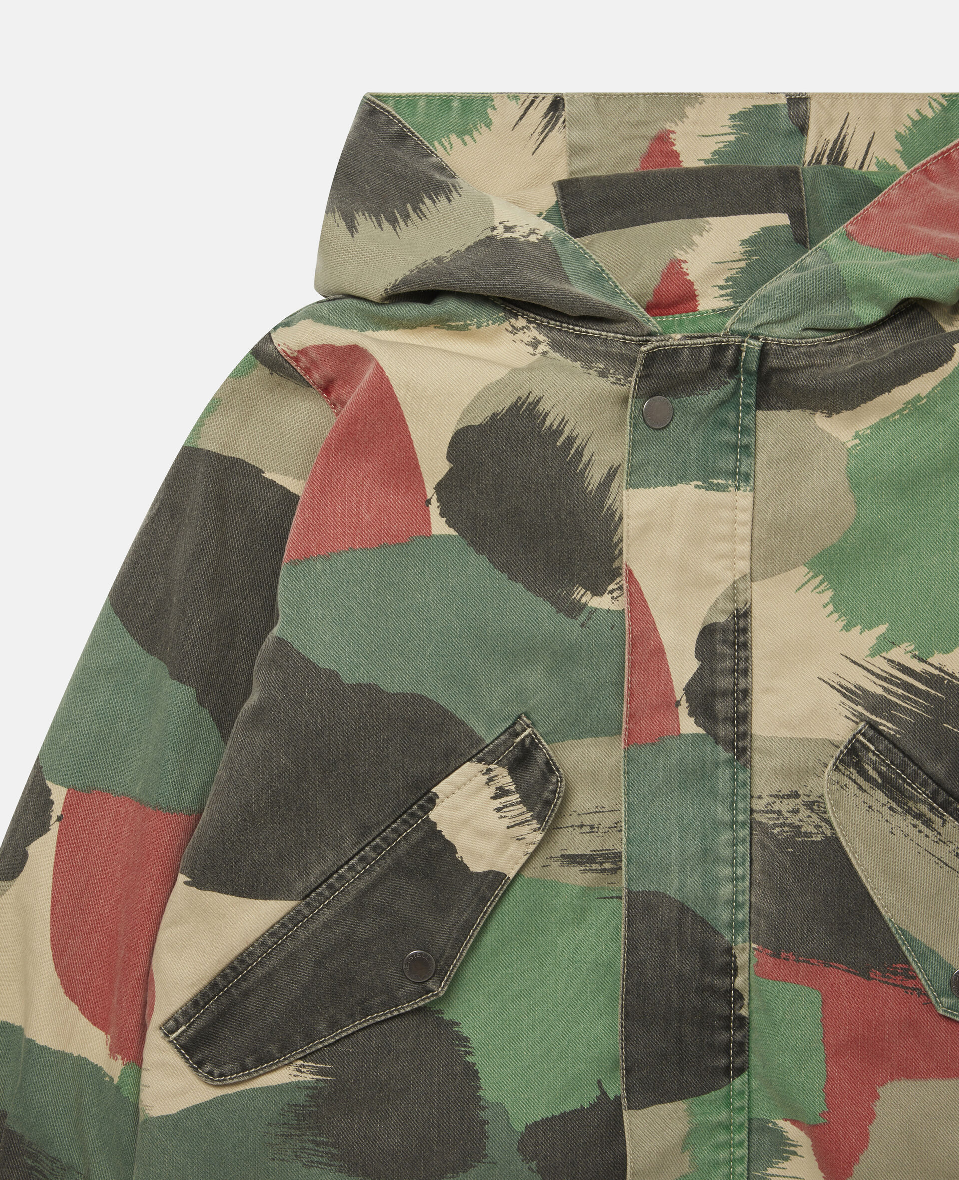 Denim-Parka mit Camouflage-Muster-Bunt-large image number 1