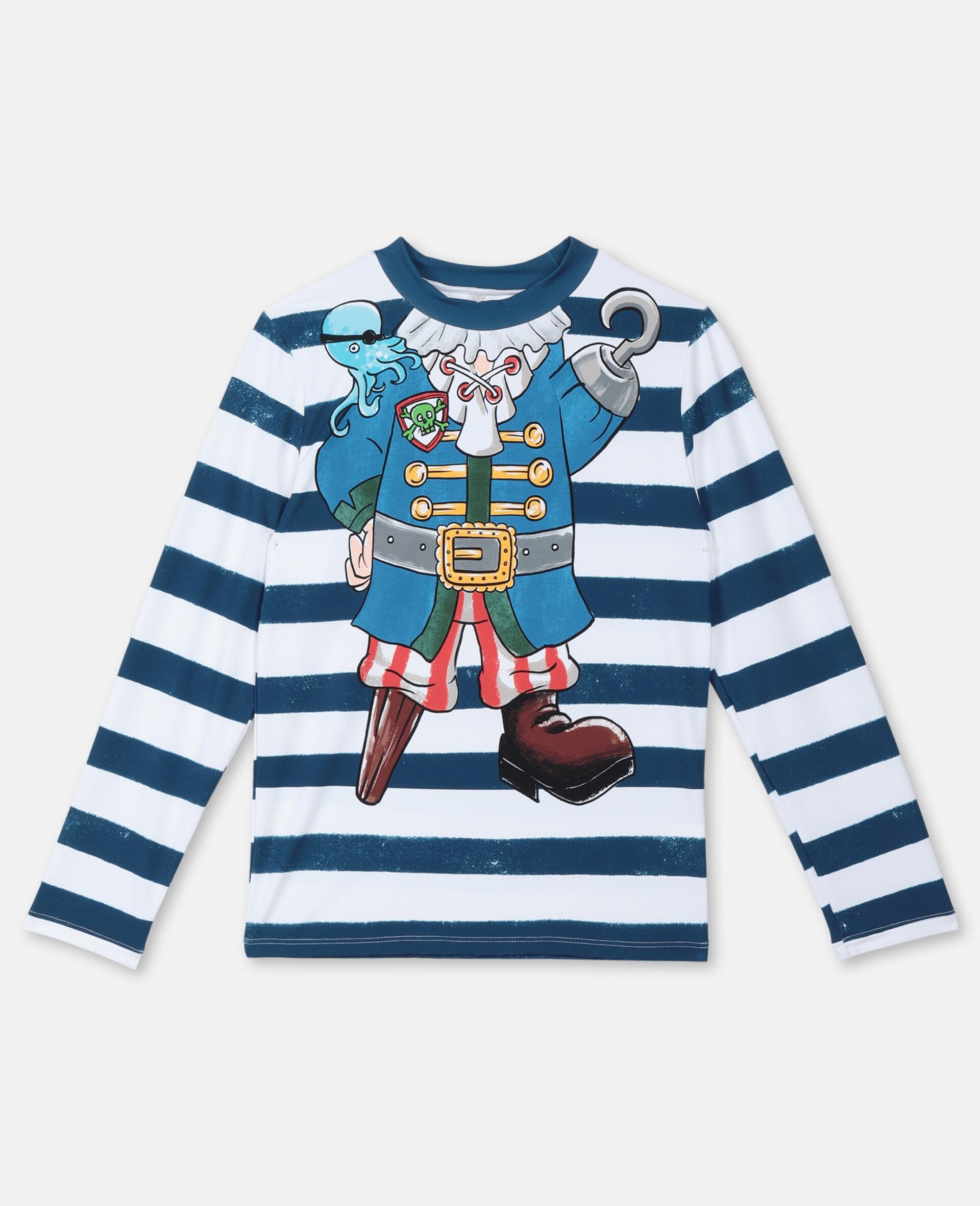 错视效果 Pirate 游泳 T 恤 -Multicolored-large image number 0