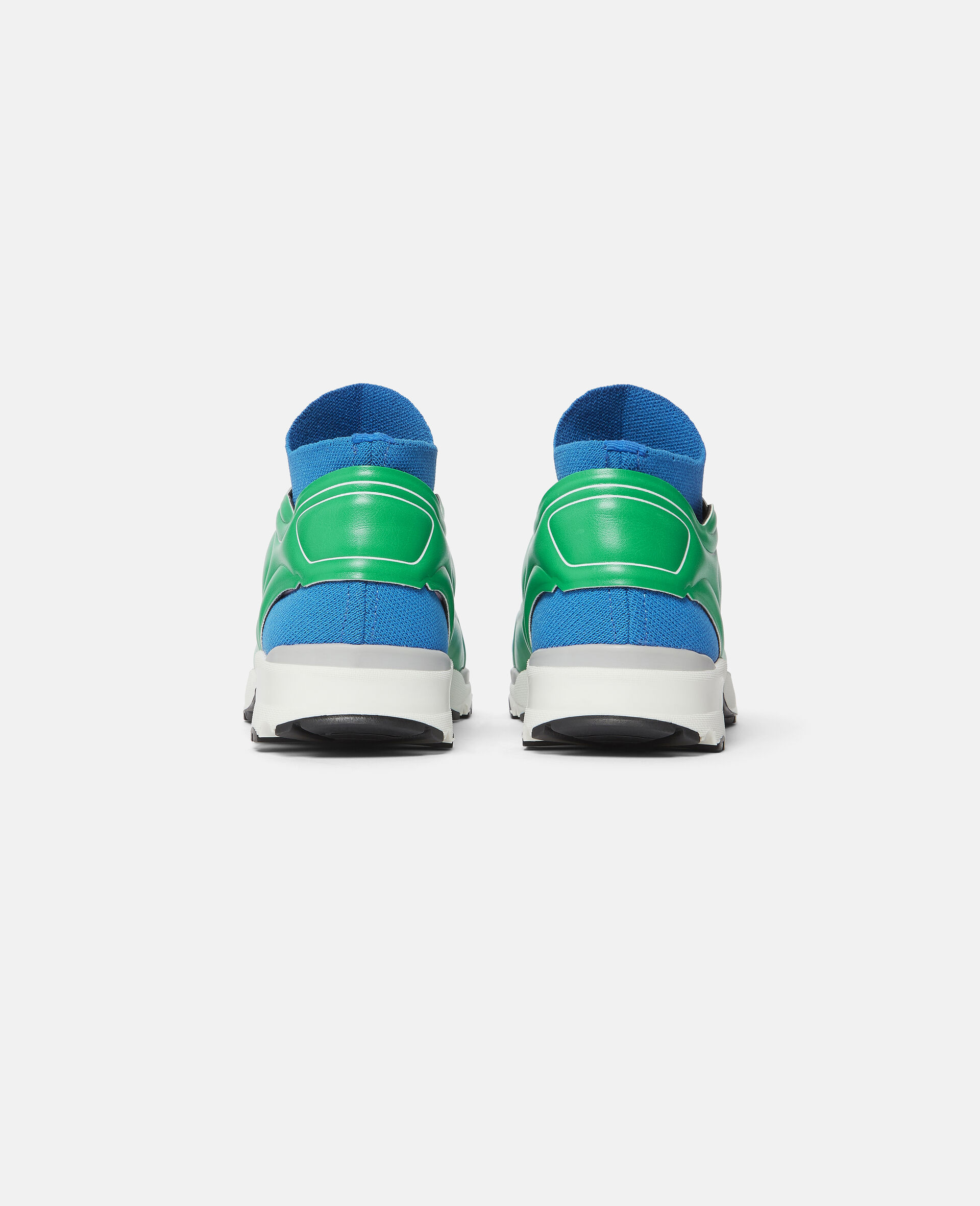 Knit Sock Sport Trainers-Blue-large image number 2