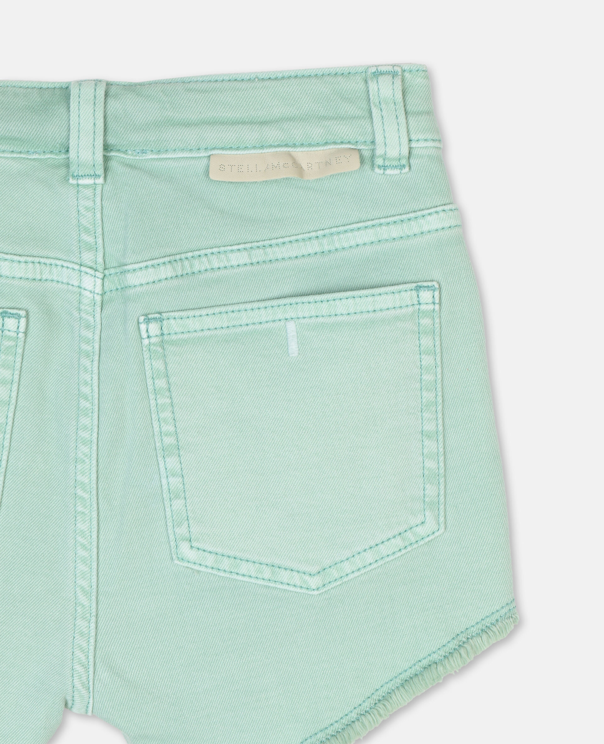 Denim Mint Shorts -Green-large image number 2