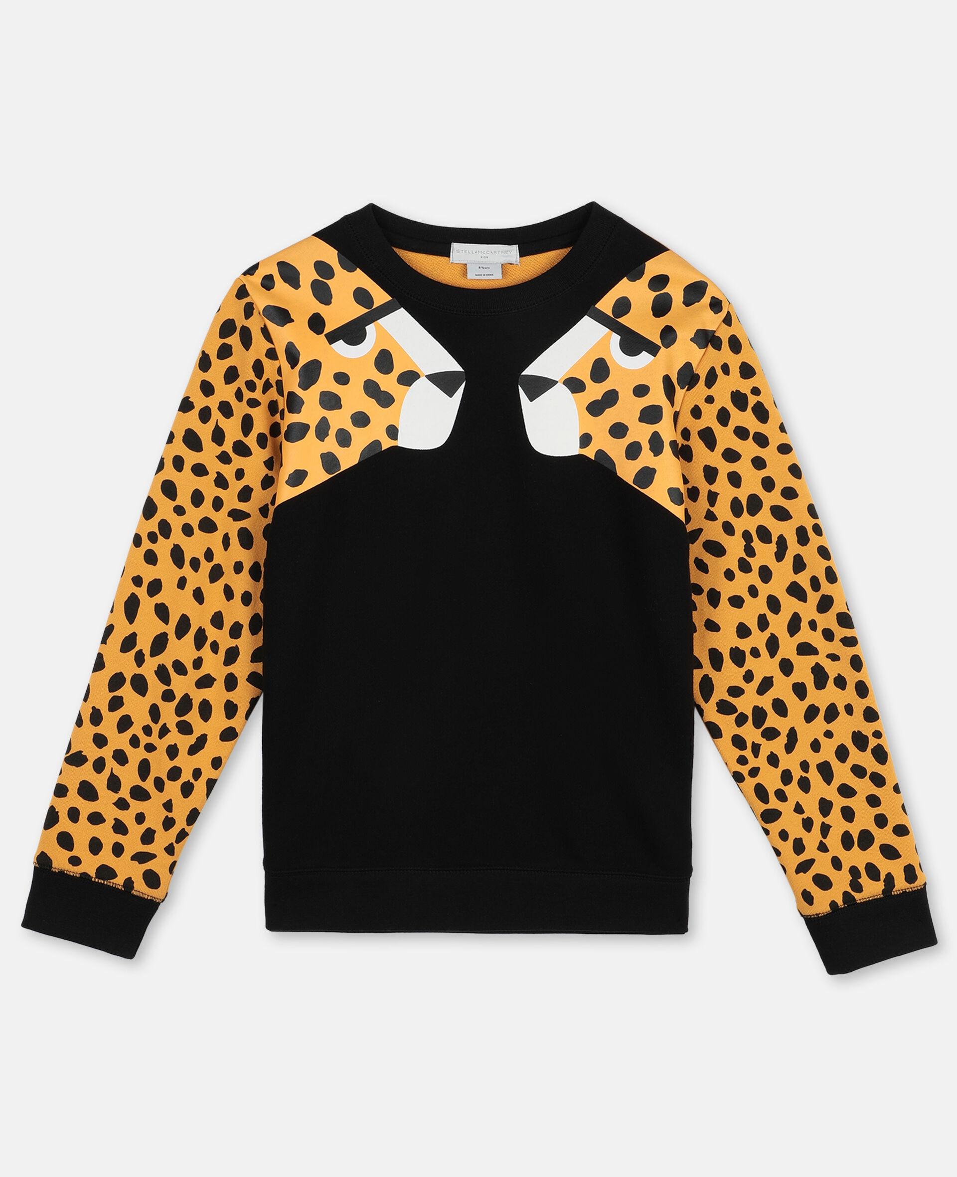 Baumwollfleece-Sweatshirt mit Gepardenpunkten -Bunt-large image number 0