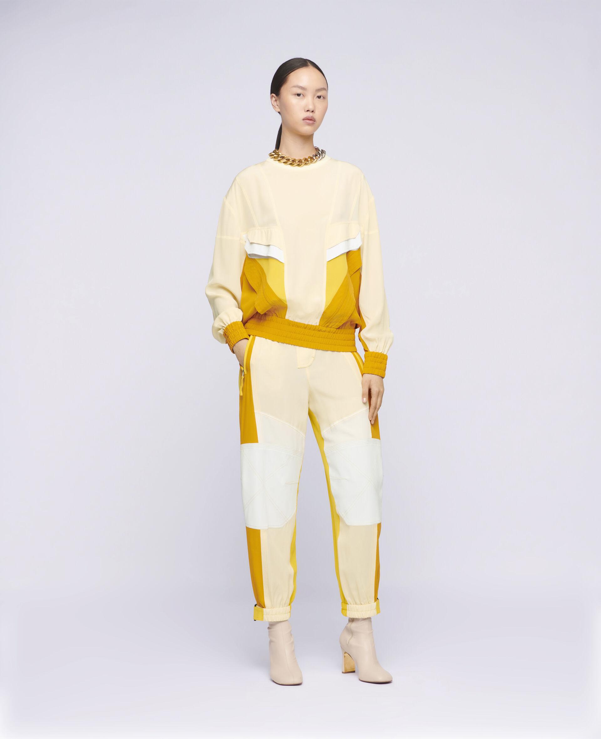 Pantalon en soie Lacey-Beige-large image number 1