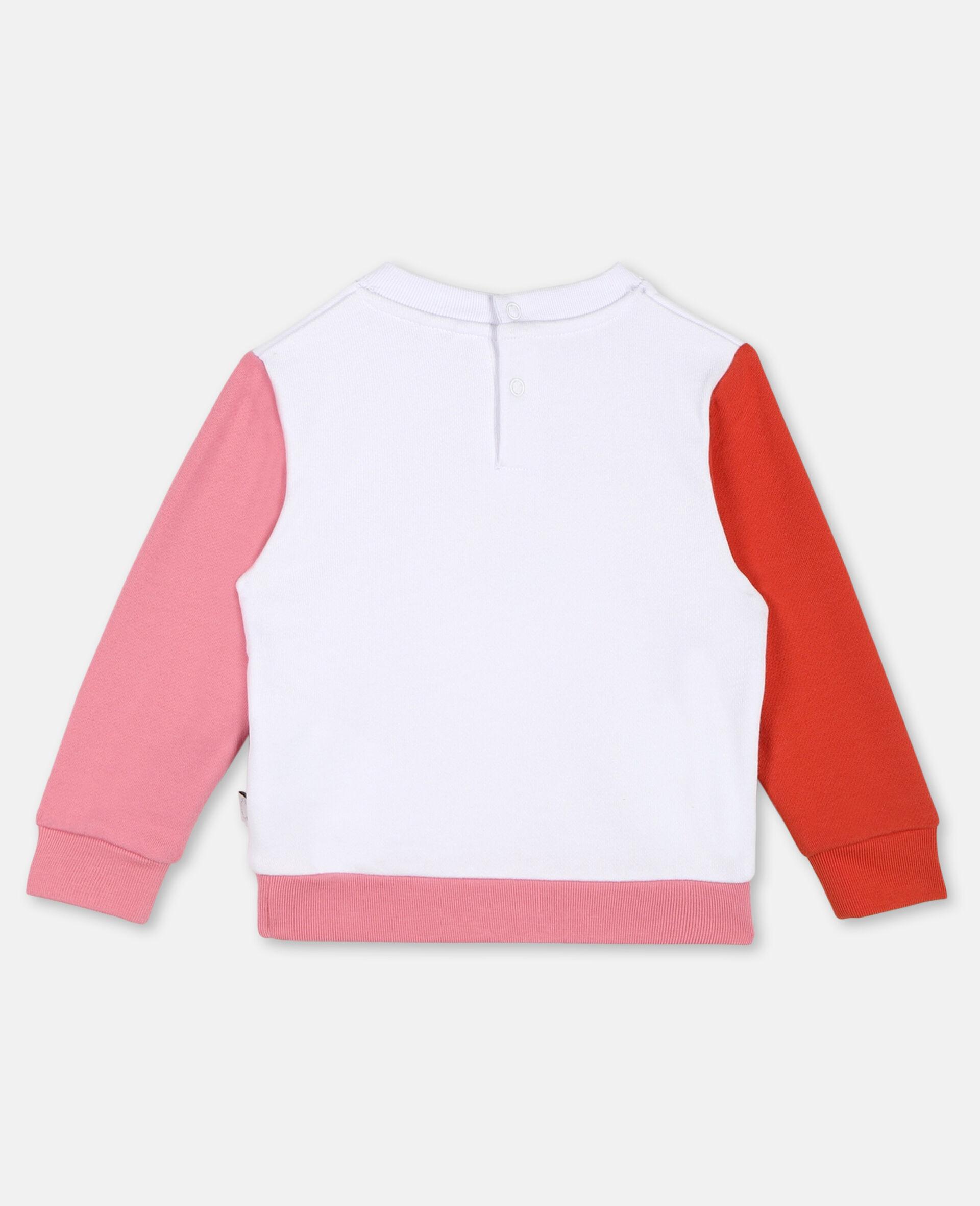 Flamingo Cotton Sweatshirt -White-large image number 3
