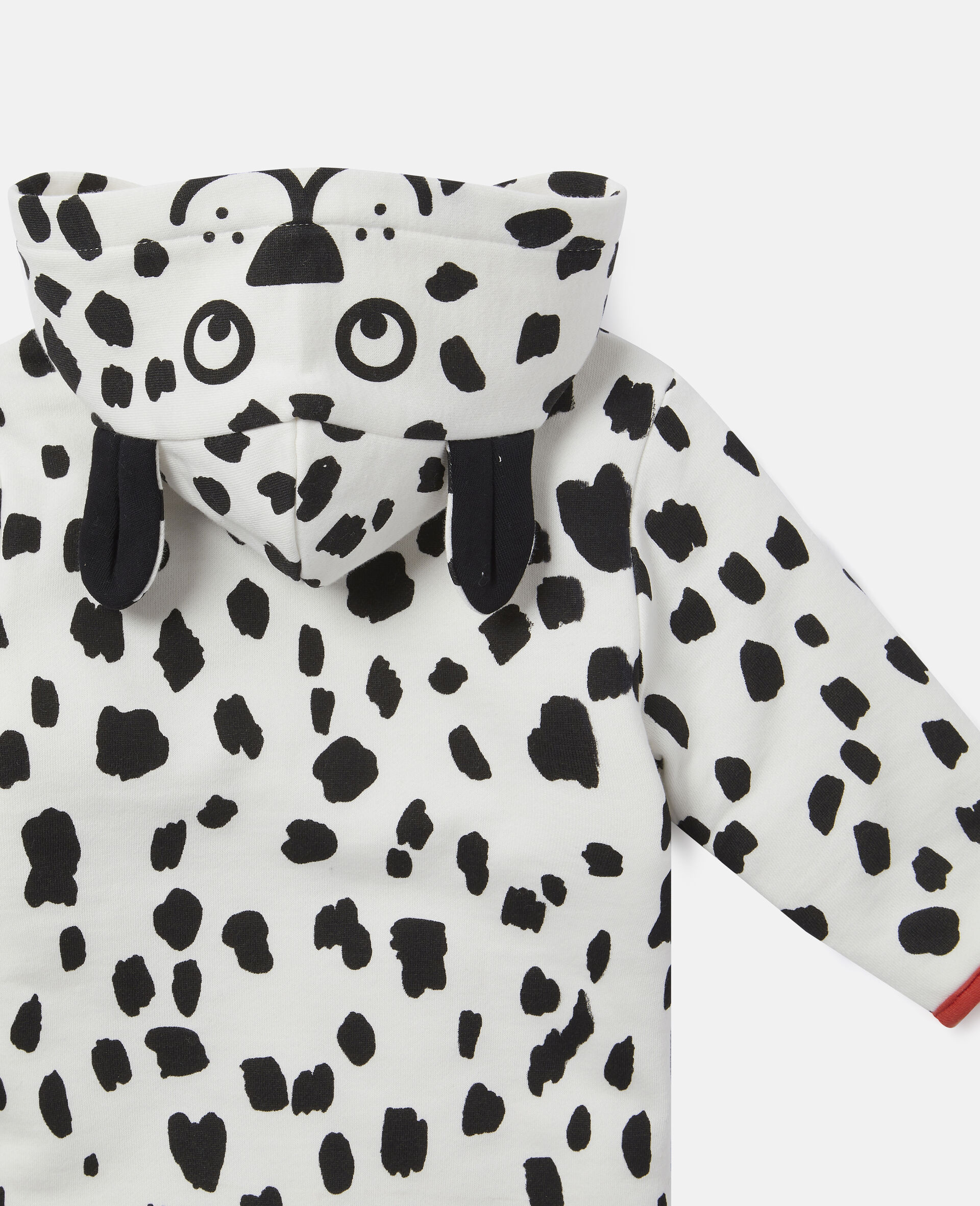 Fleece-Jumpsuit mit Dalmatinerflecken-Print-Weiß-large image number 2