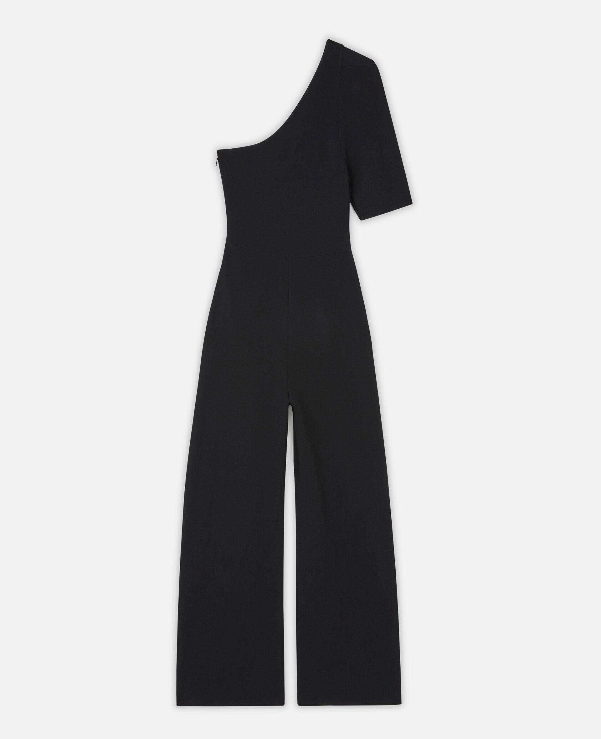 Compact Knit Jumpsuit-Black-large image number 0