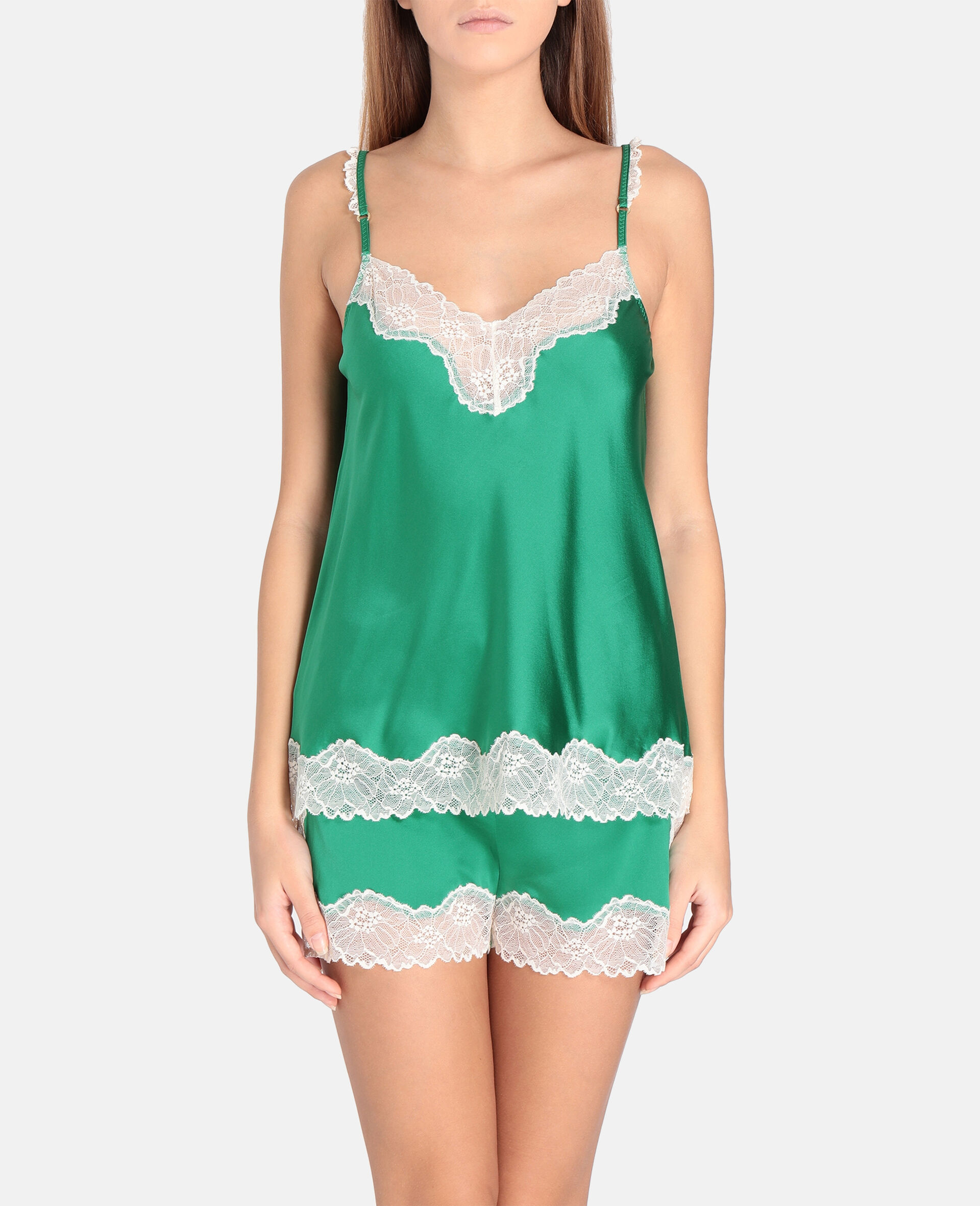 Kitty Catching Camisole-Green-large image number 1