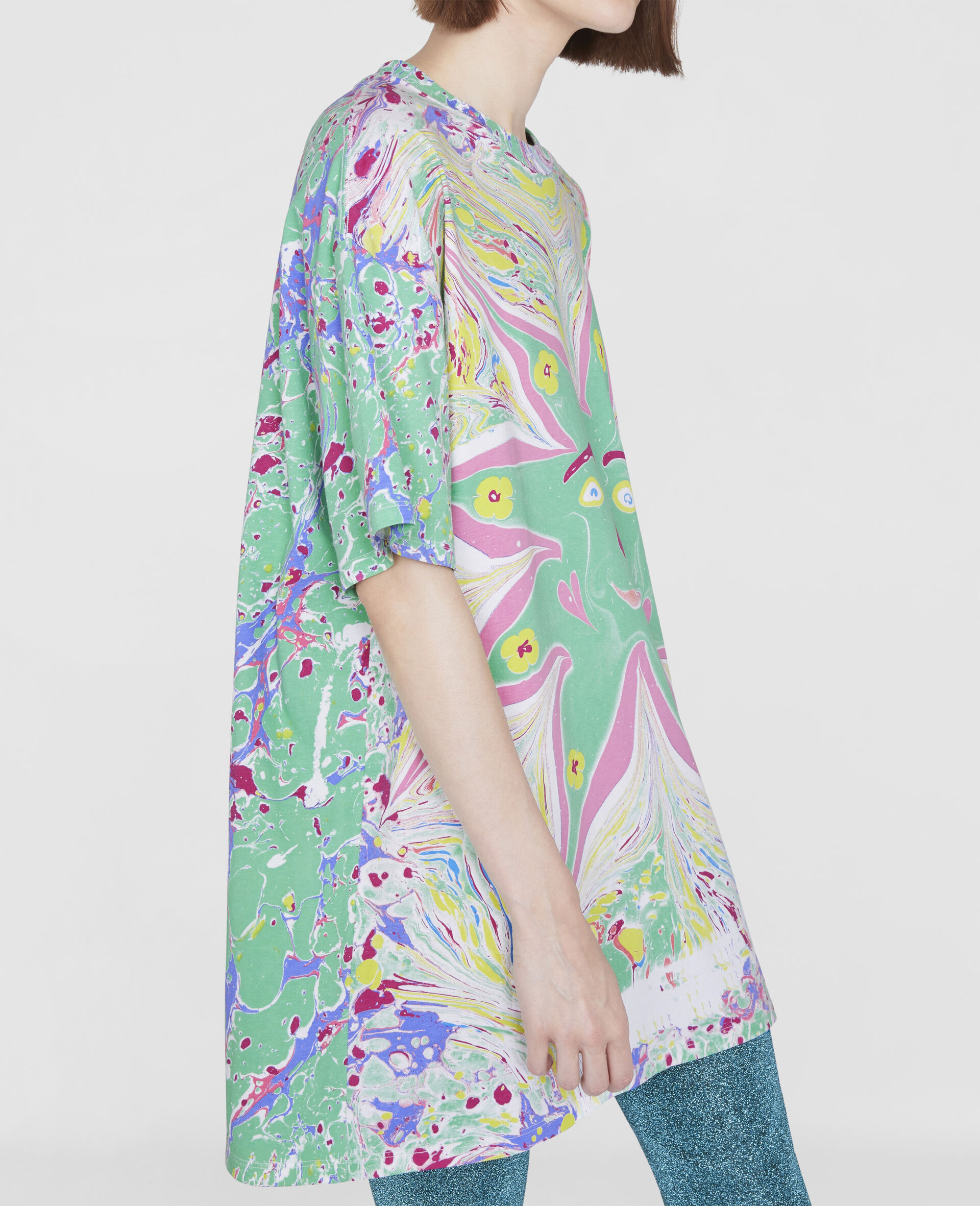 Myfawnwy Printed  T-Shirt Dress-Multicolour-large image number 3