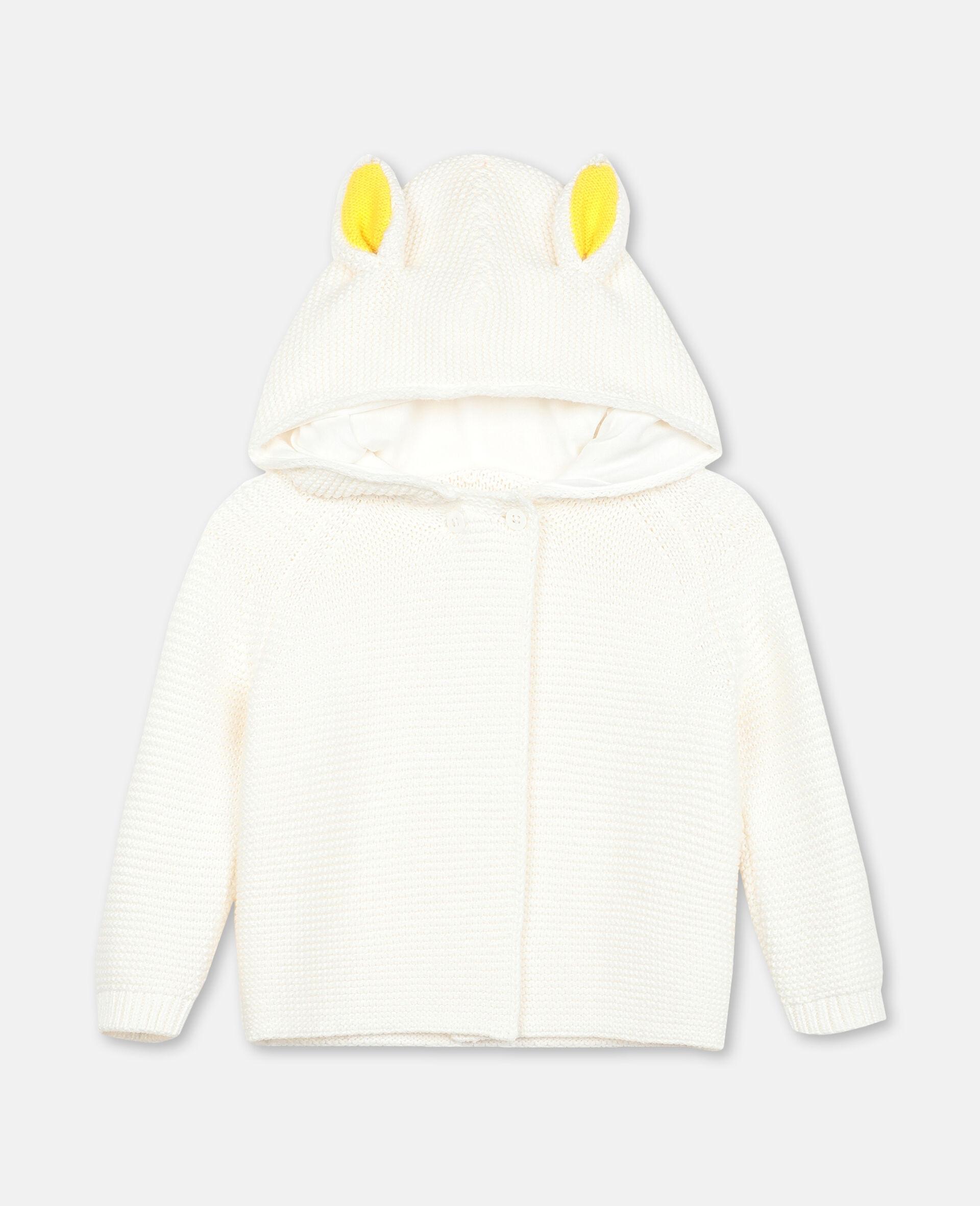 Bunny Knit Cardigan-White-large image number 0