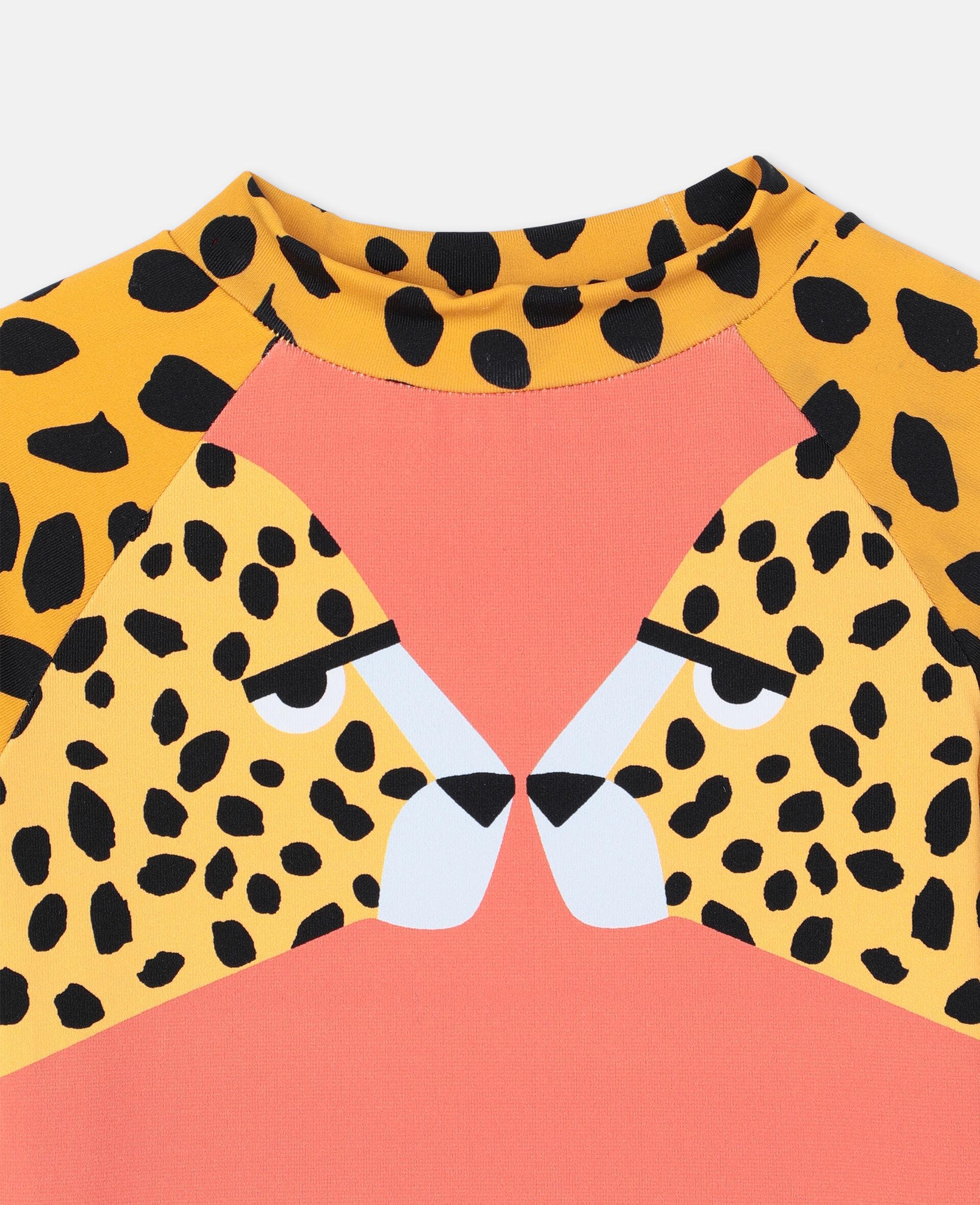 Cheetah Swim T-shirt -Red-large image number 1