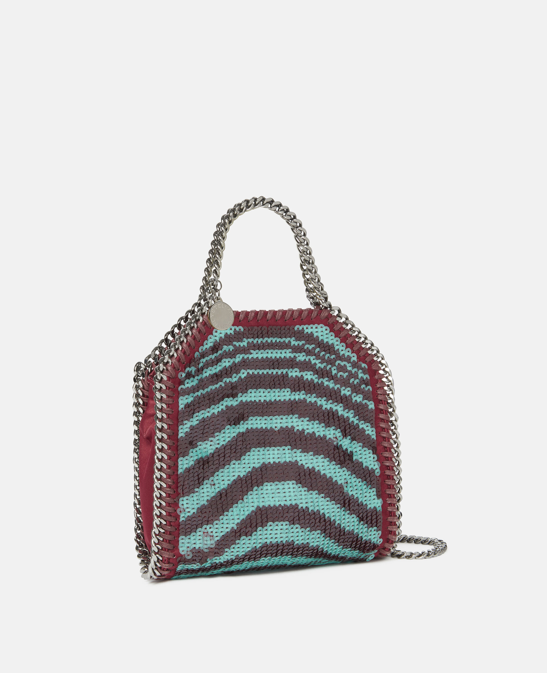 Falabella Tiny Tote Bag mit Pailletten-Rot-large image number 1
