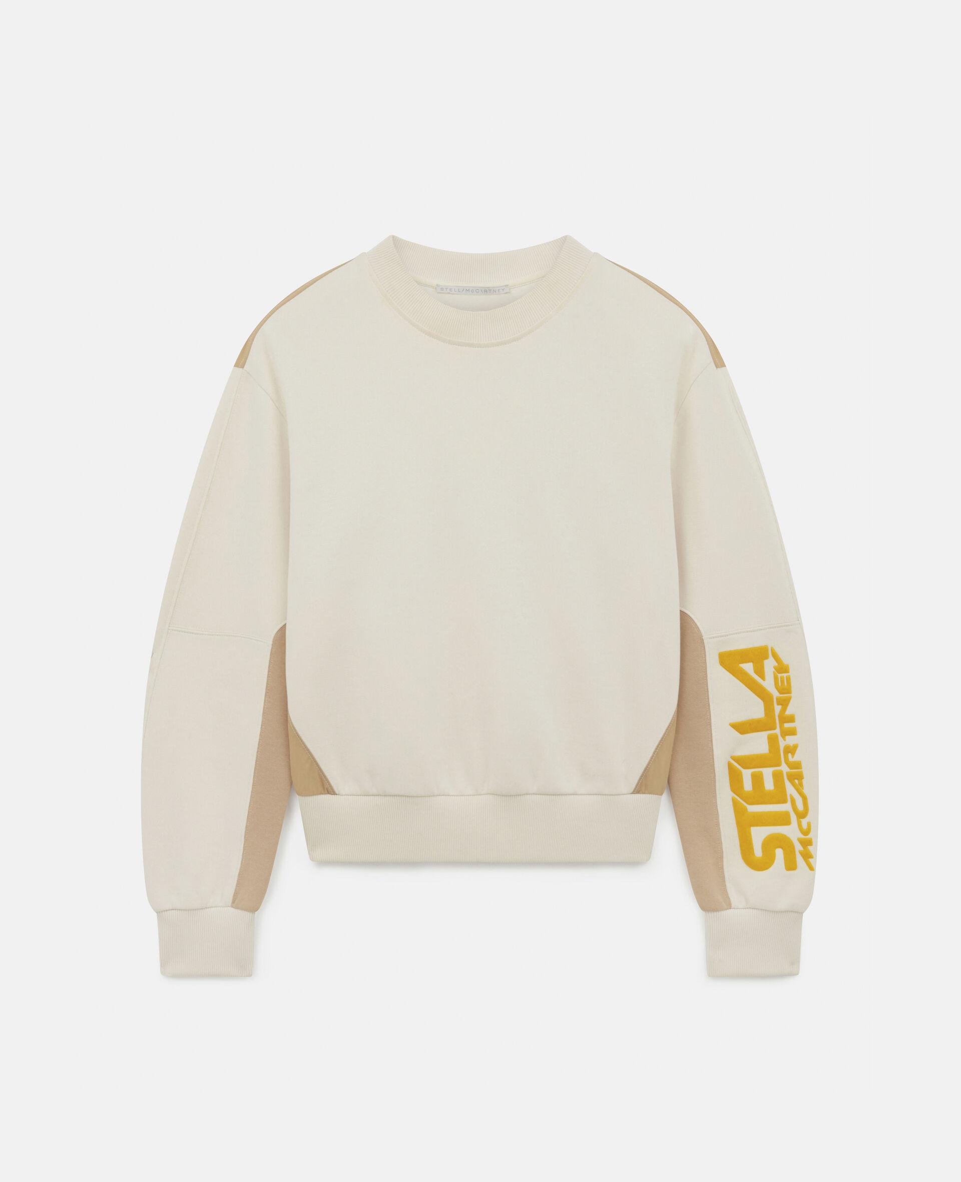 Sweatshirt mit Stella McCartney Logo -Weiß-large image number 0