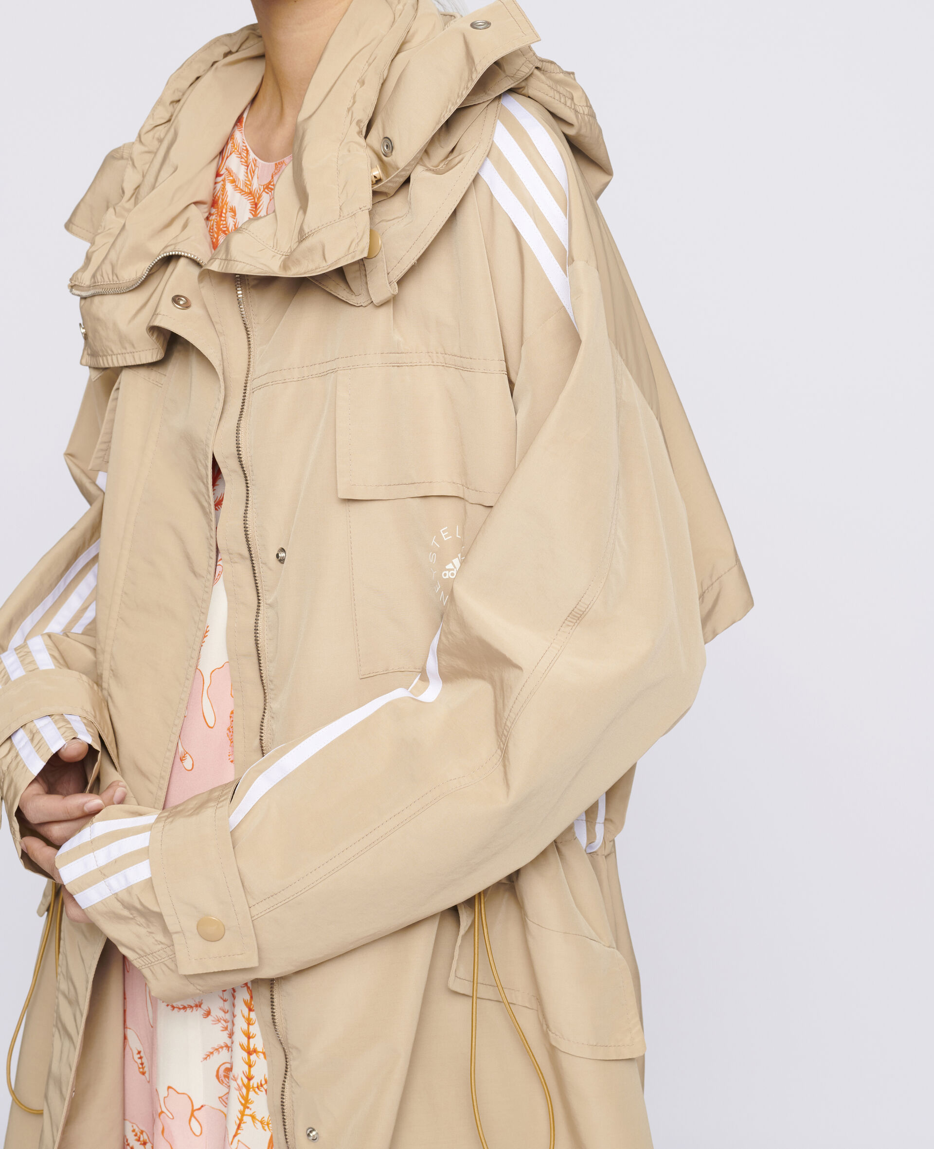 Jessa Trench Coat-Beige-large image number 3