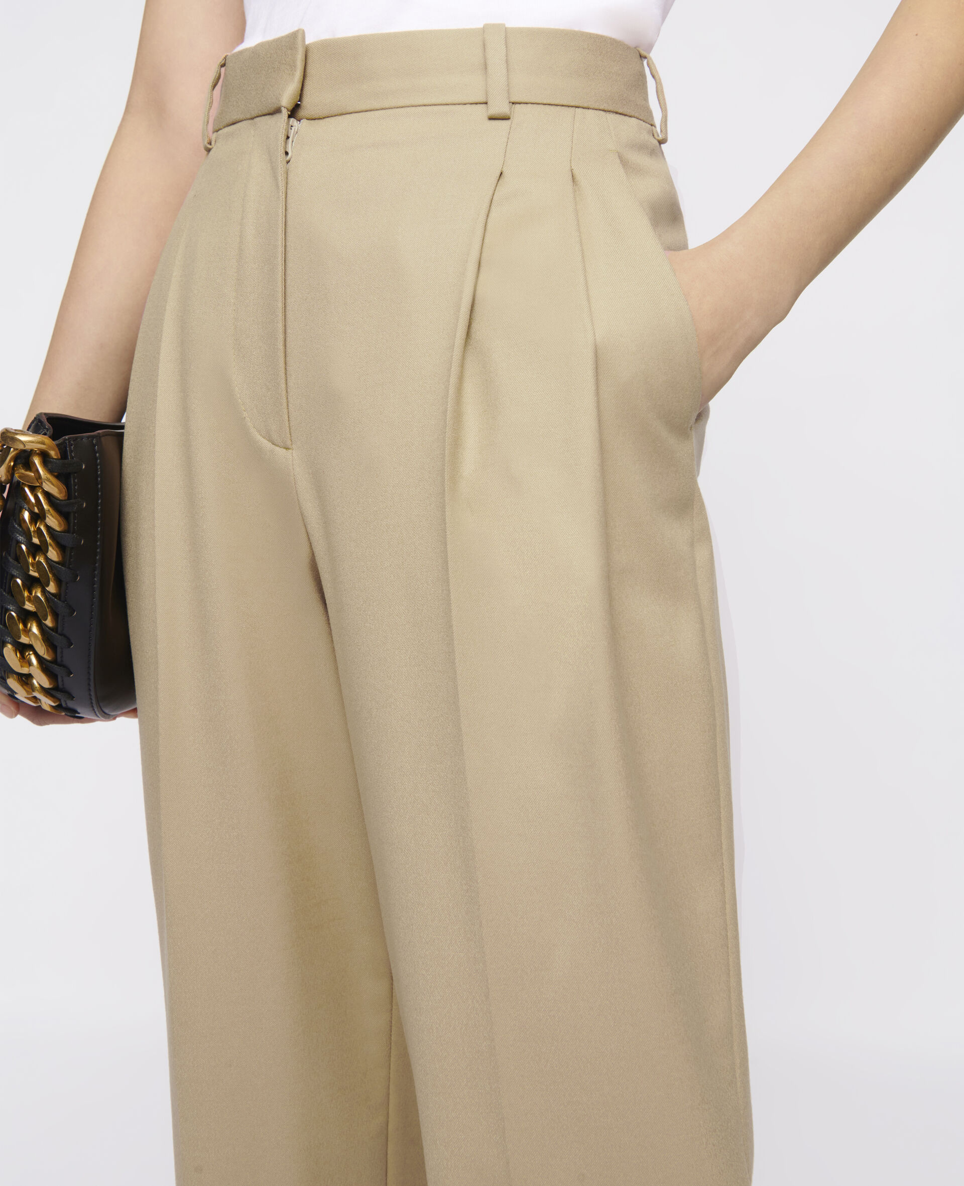Kaiya Wool Trousers-Brown-large image number 3