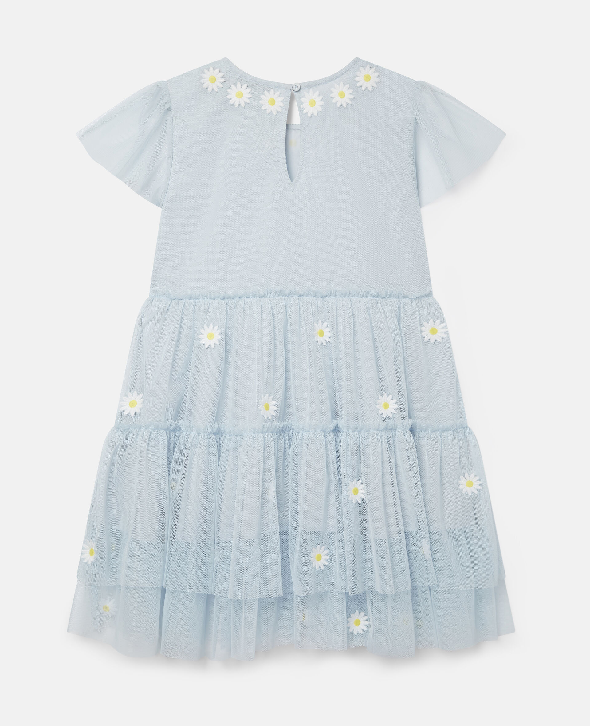 Embroidered Daisies Tulle Dress-Blue-large image number 3