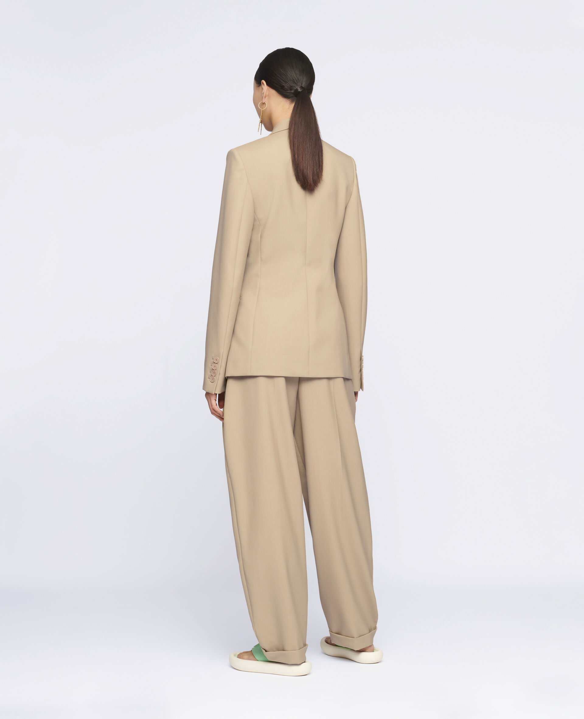 Ariana Wool Trousers-Beige-large image number 2