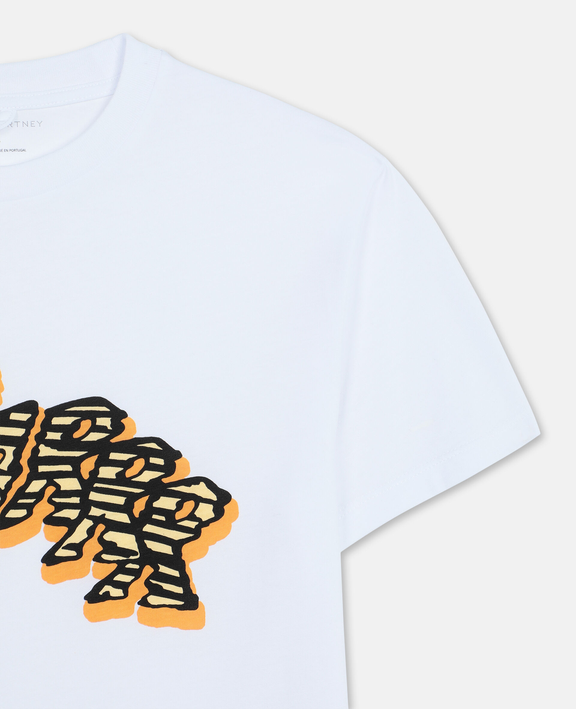 Oversize Roarrr Cotton T-shirt -White-large image number 1