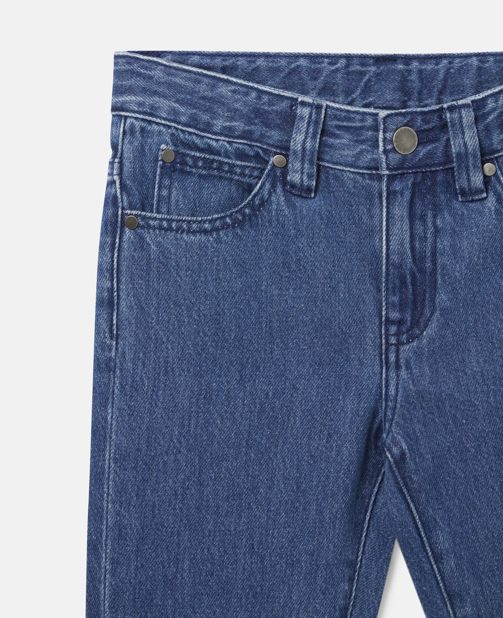 Pantalon en denim-Bleu-large image number 0