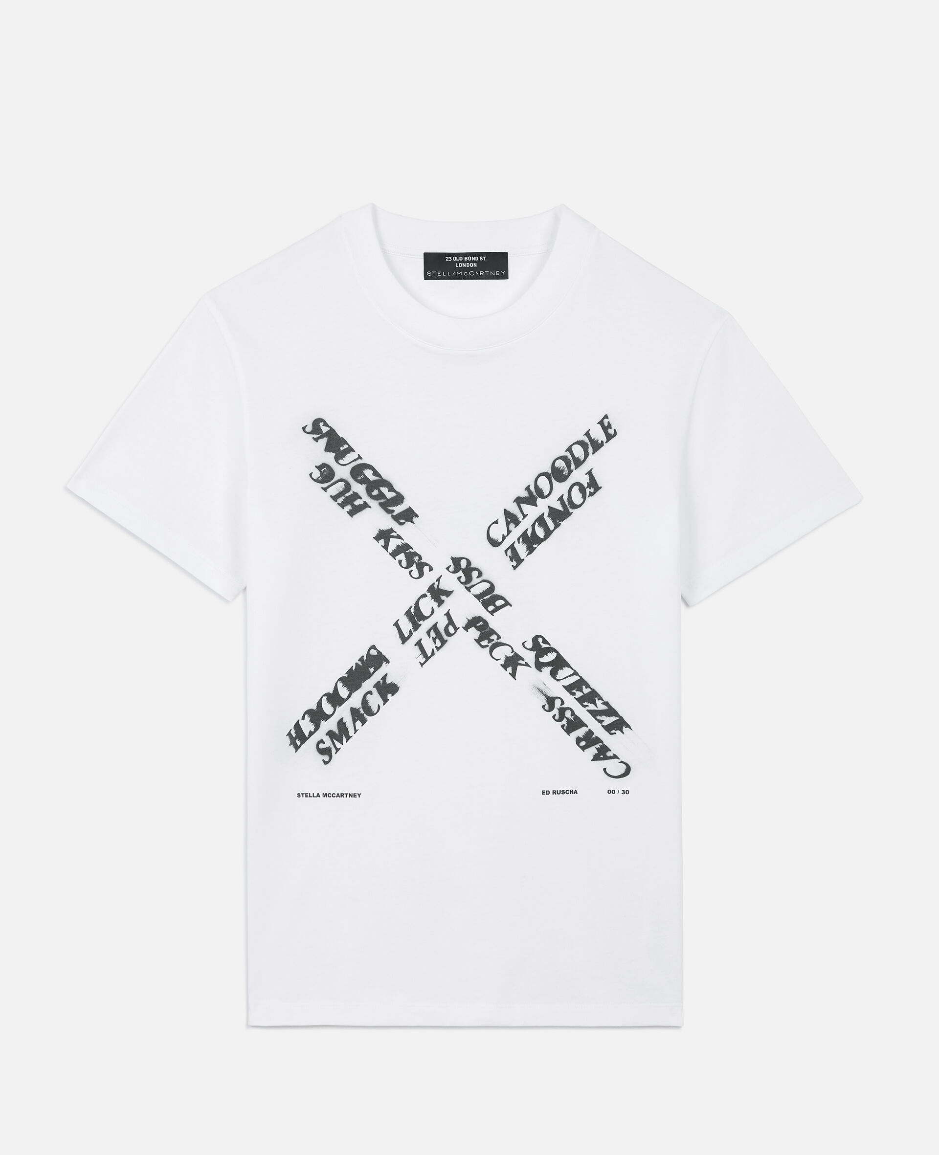 "Ed Ruscha ""X"" T-shirt-White-large image number 0"