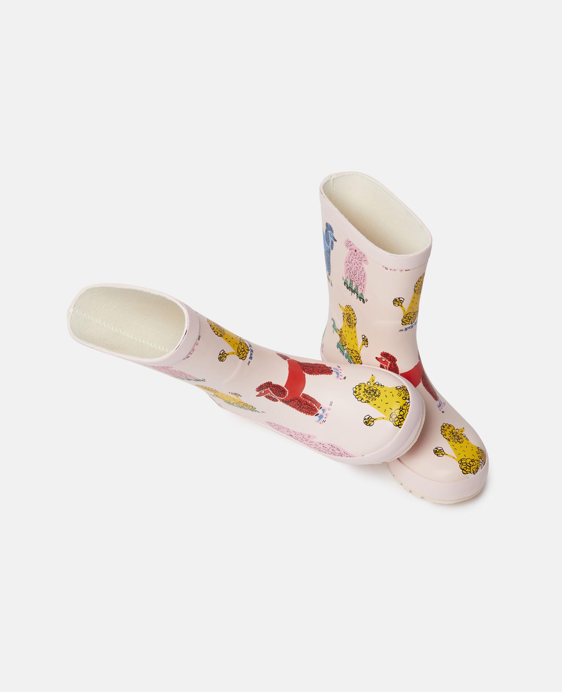 Doodle Poodles Waterproof Rainboots-Pink-large image number 1
