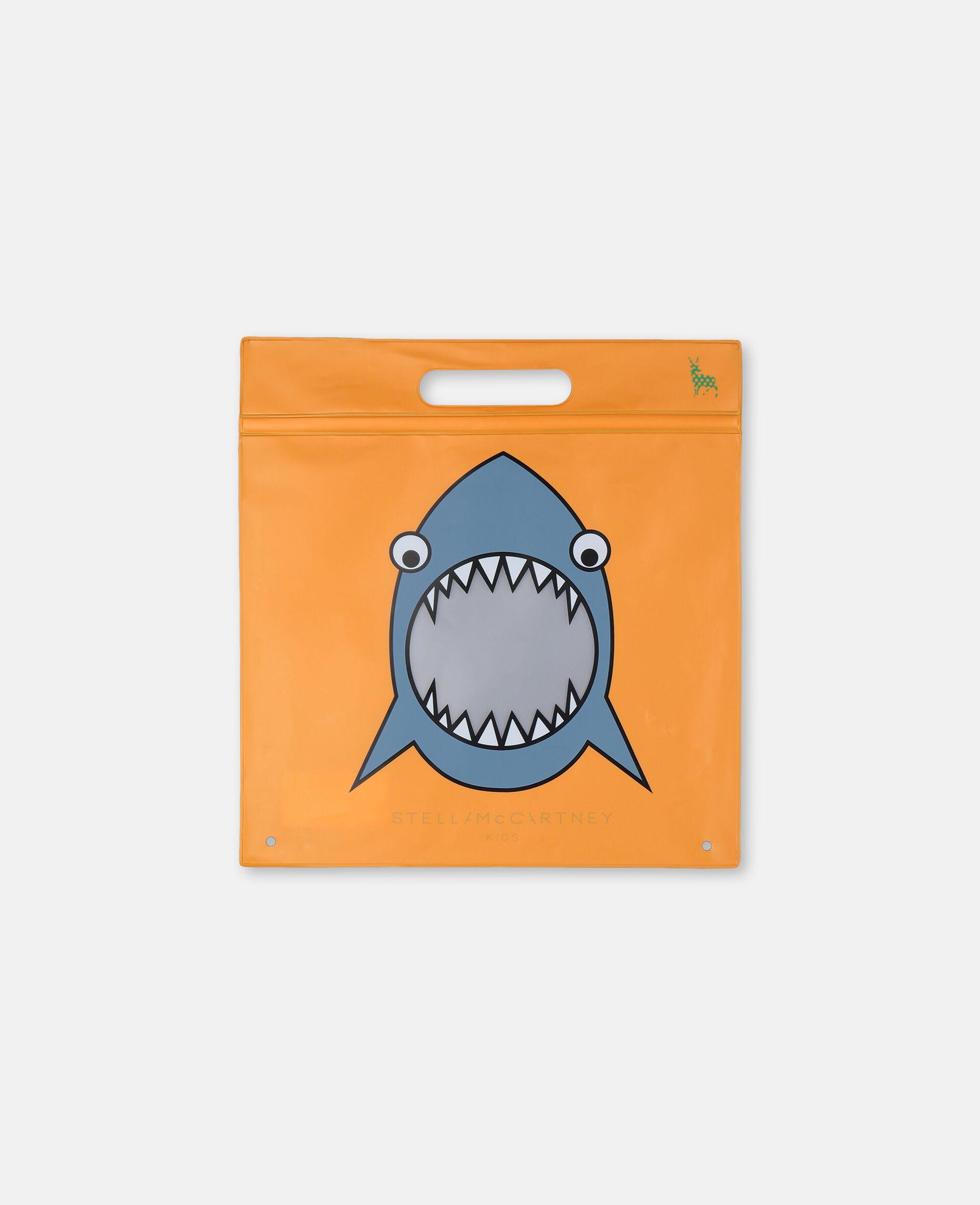 Logo Sport Swim Shorts -Orange-large image number 3