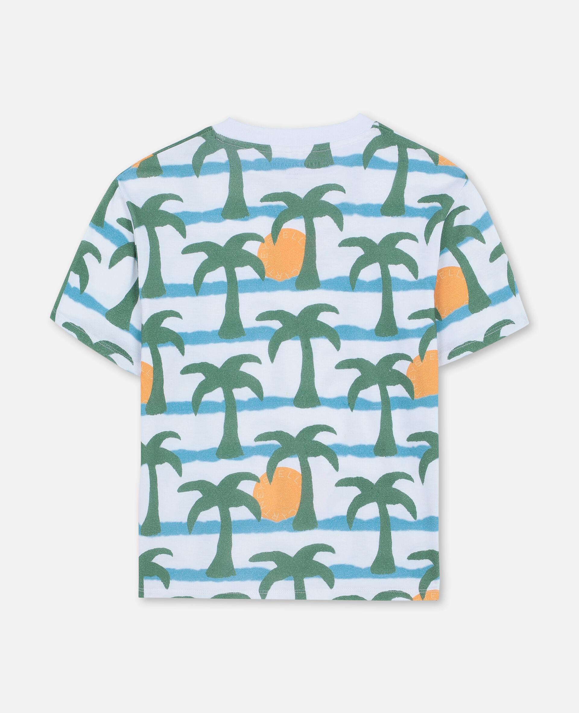 Oversize Palm Cotton T-shirt -Multicolour-large image number 3