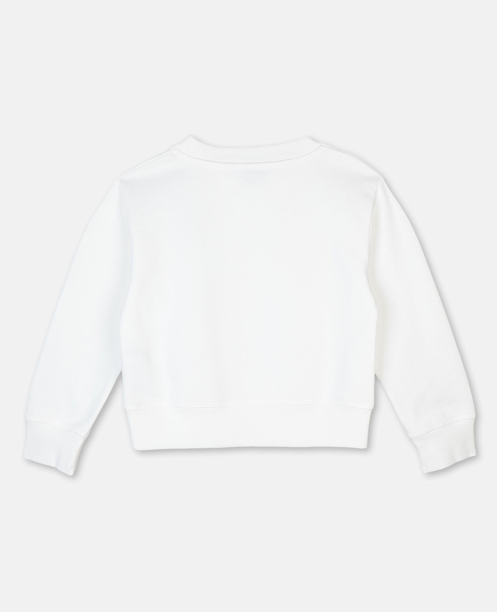 Palm Cotton Fleece Logo Sweatshirt -White-large image number 3