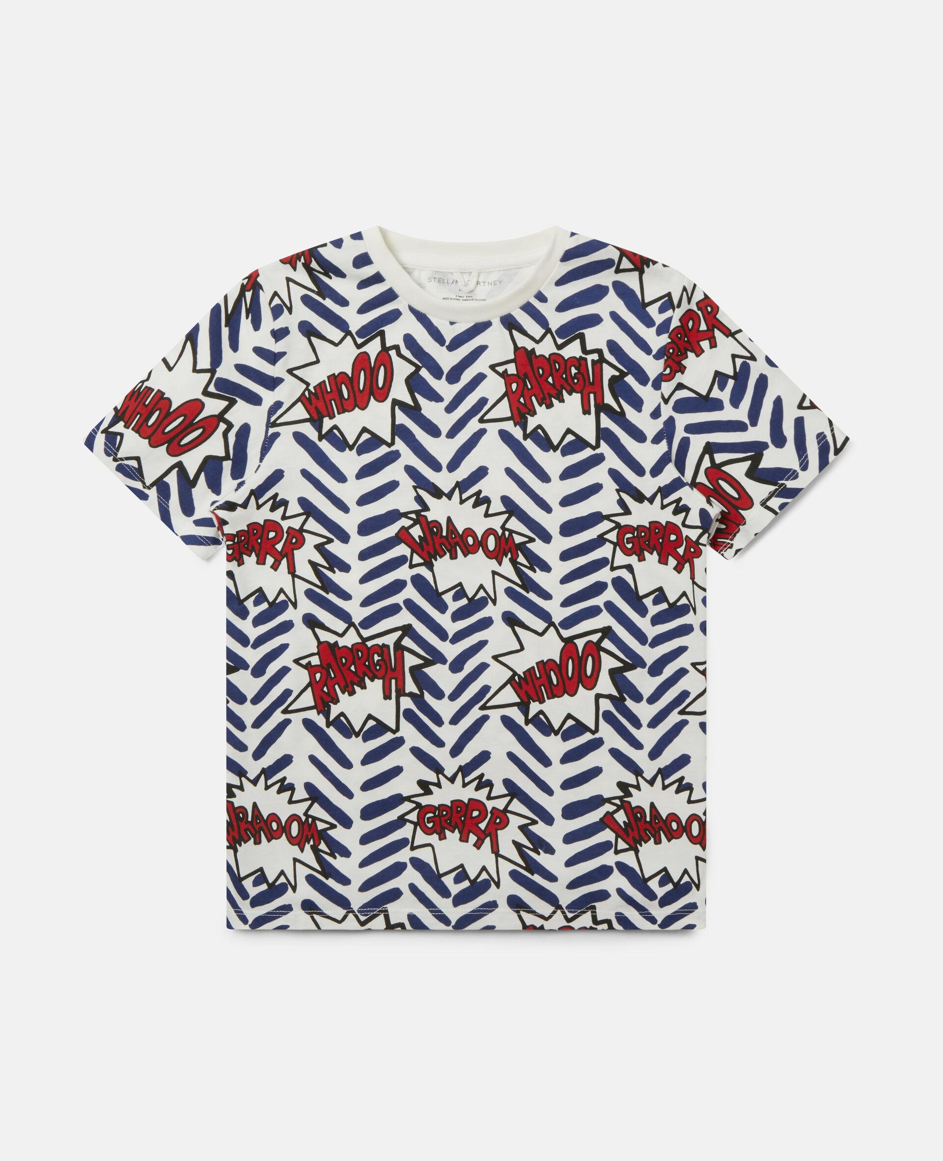 漫画泡状框印花 T 恤-Multicolored-large image number 0
