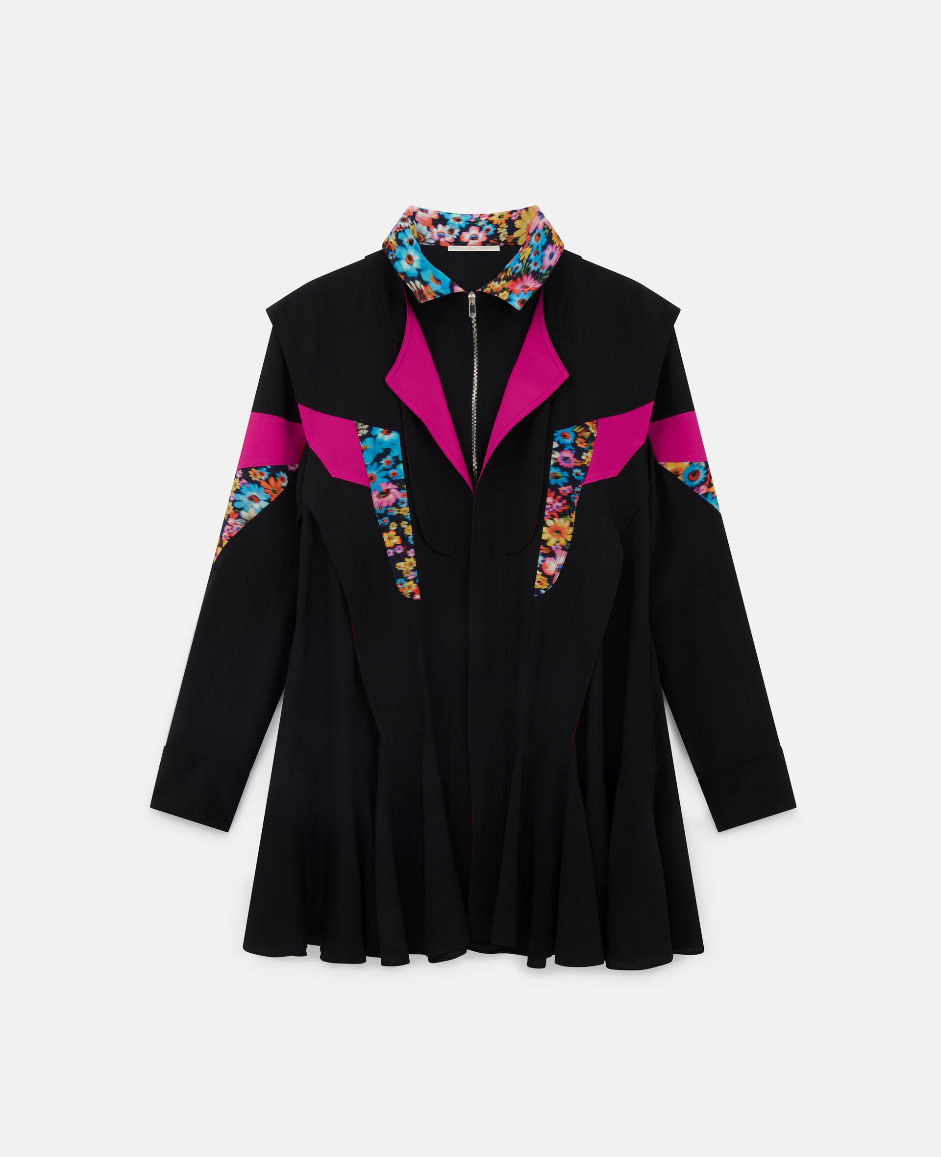 Monica Silk Dress-Multicolour-large image number 0