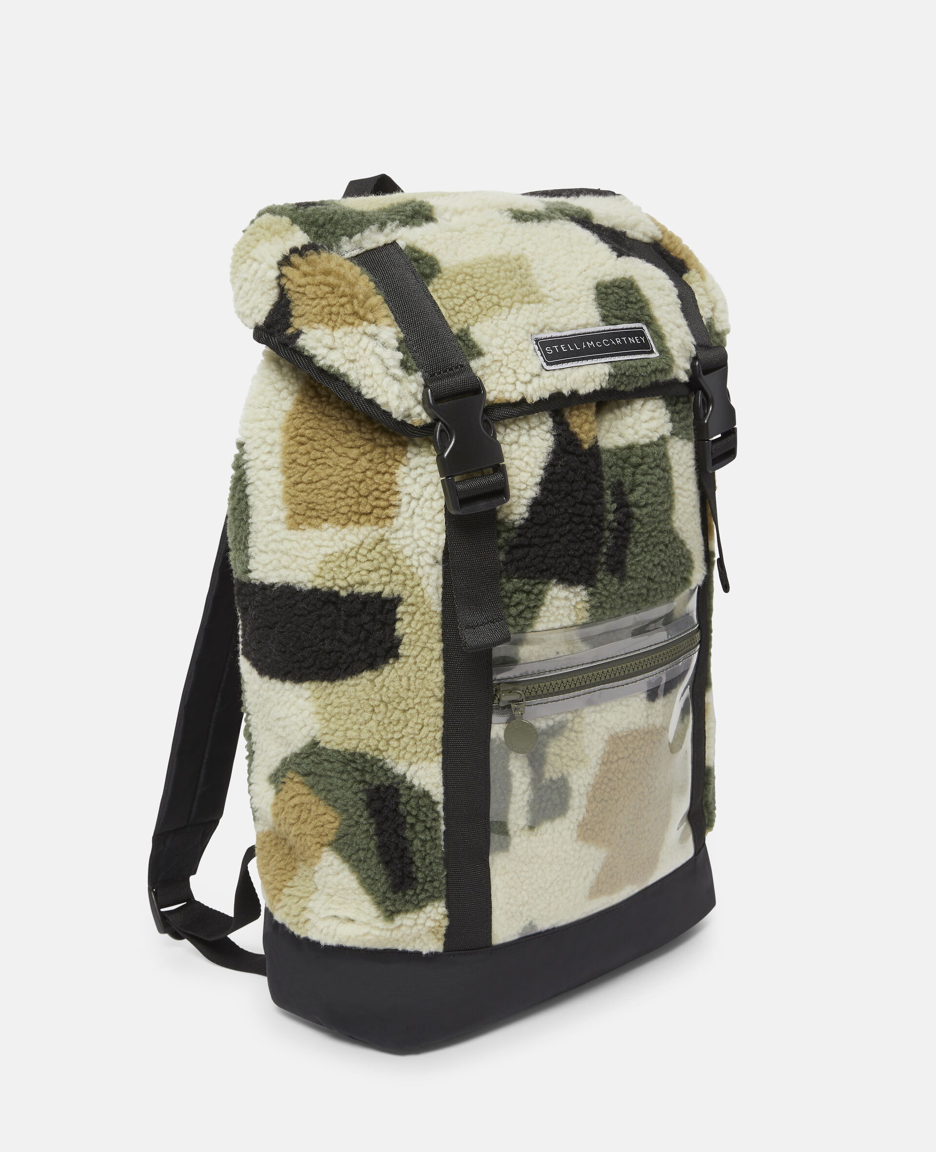 Military Camouflage Teddy Backpack-Beige-large image number 1