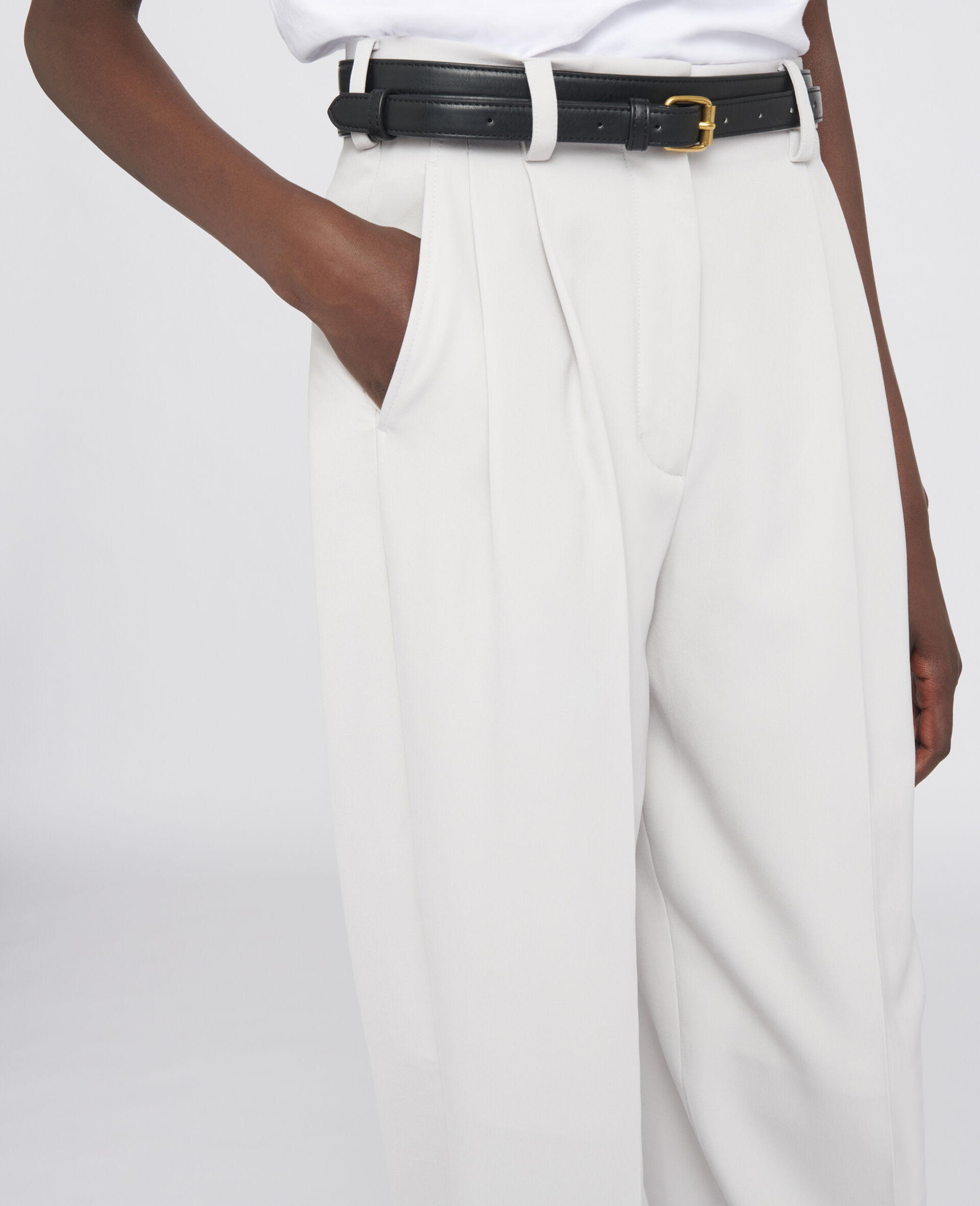 Louise Tailored Trousers-Grey-large image number 3