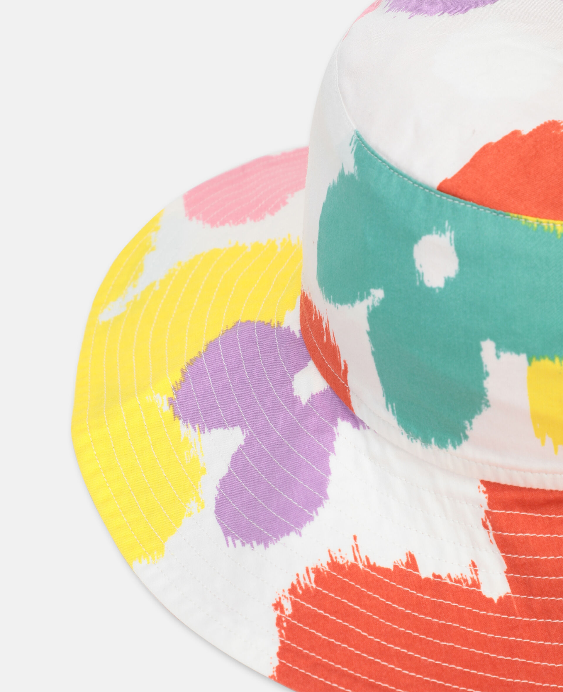 Flower Cotton Hat-Multicoloured-large image number 2