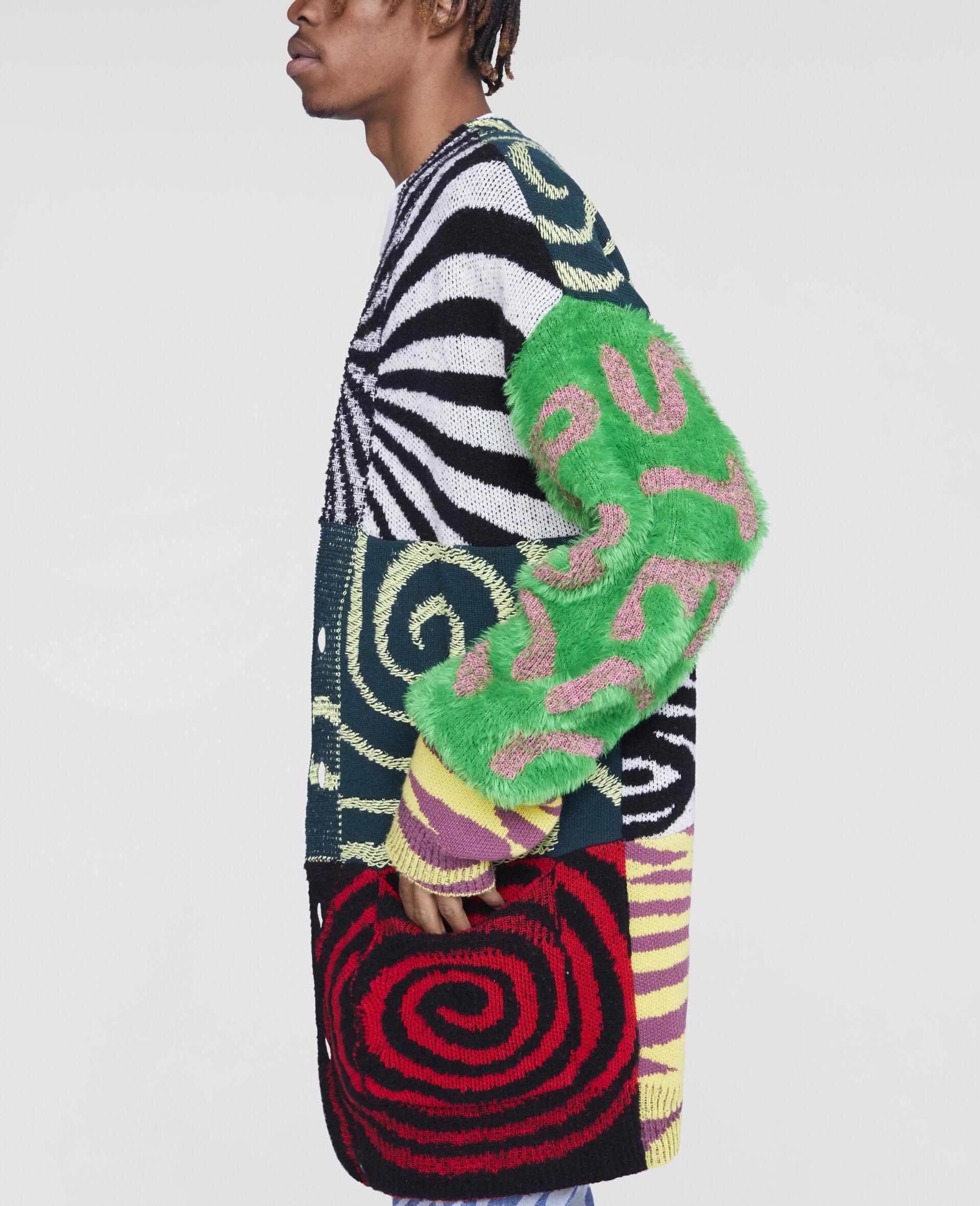 Ed Curtis Patchwork Cardigan-Multicolour-large image number 4
