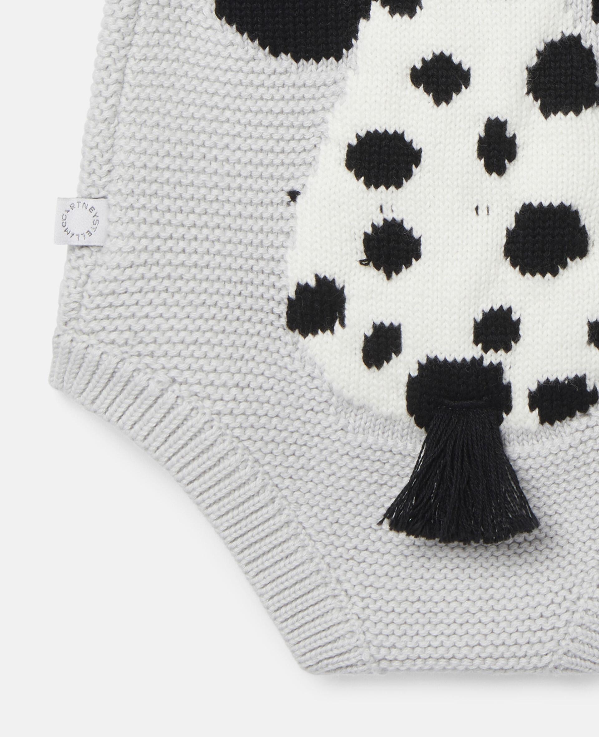 Dalmatian Knit Intarsia Body-Grey-large image number 2