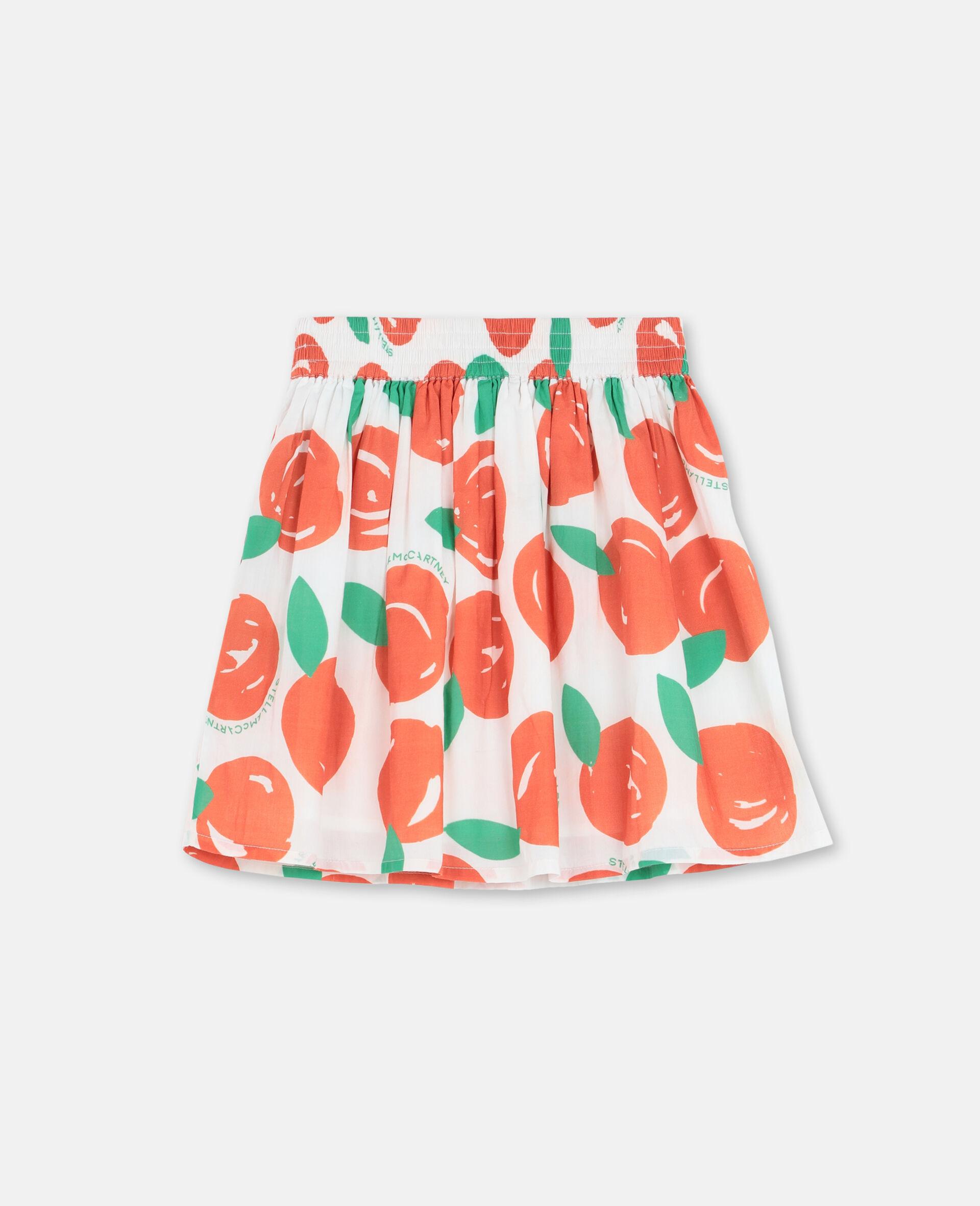 Clementine棉质半身裙 -红色-large image number 3