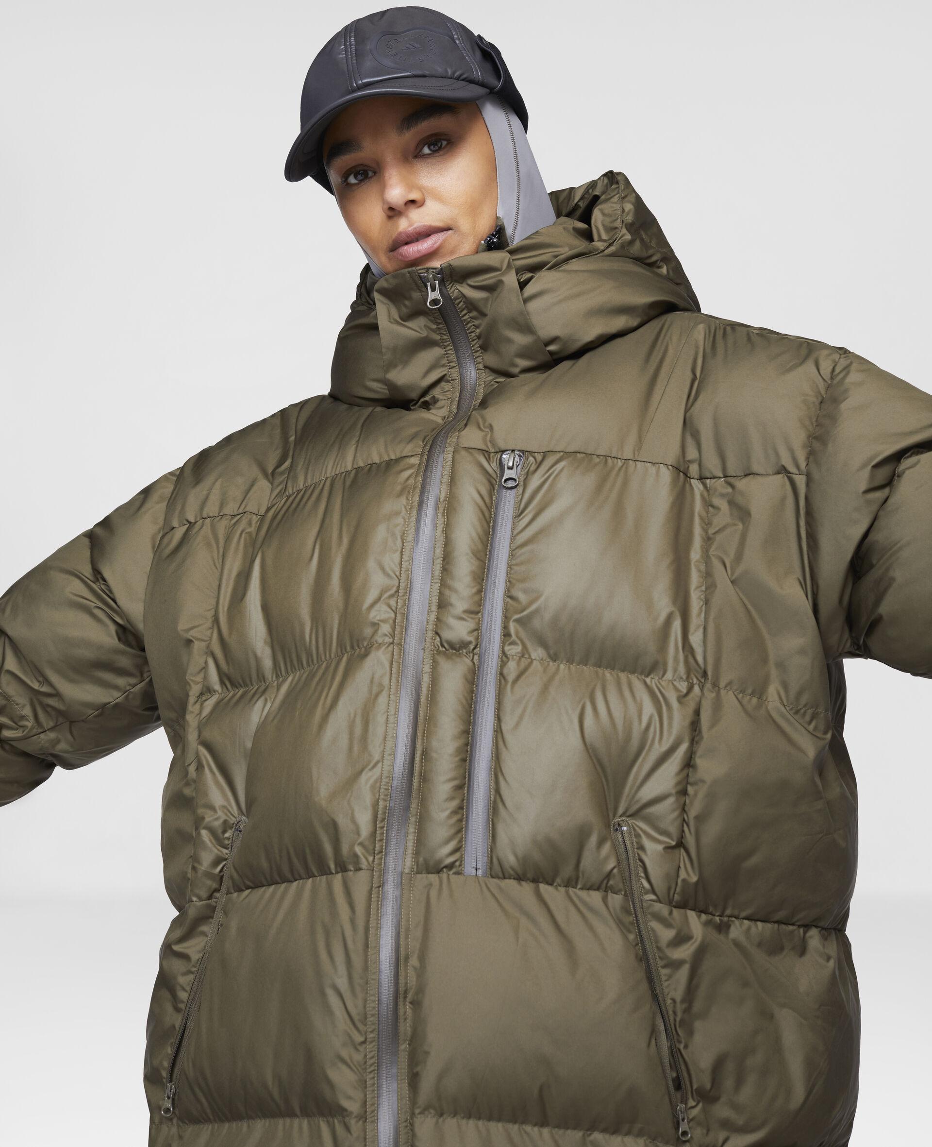Long Training Puffer Jacket-Brown-large image number 3