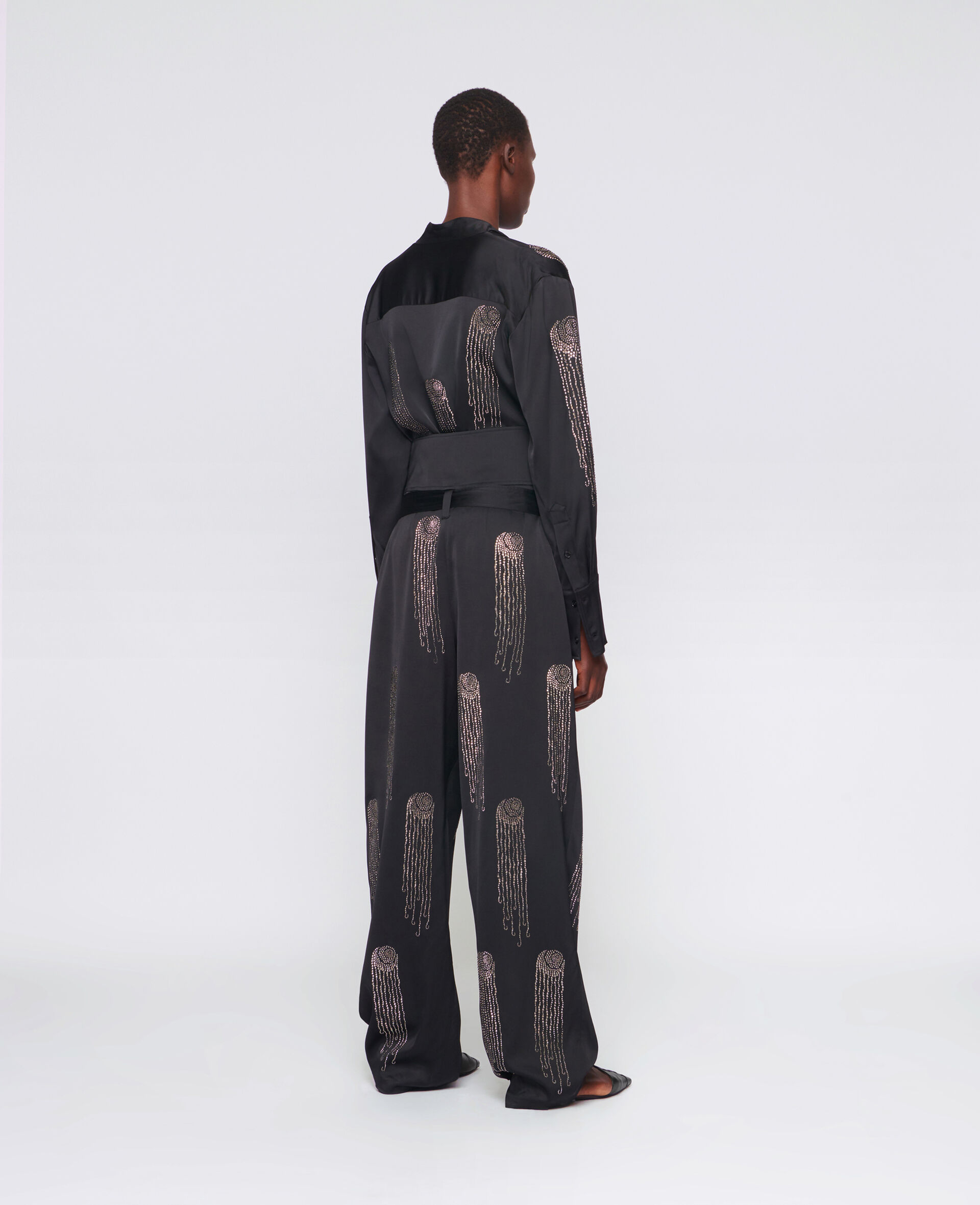 Londyn Hotfix Trousers-Black-large image number 2