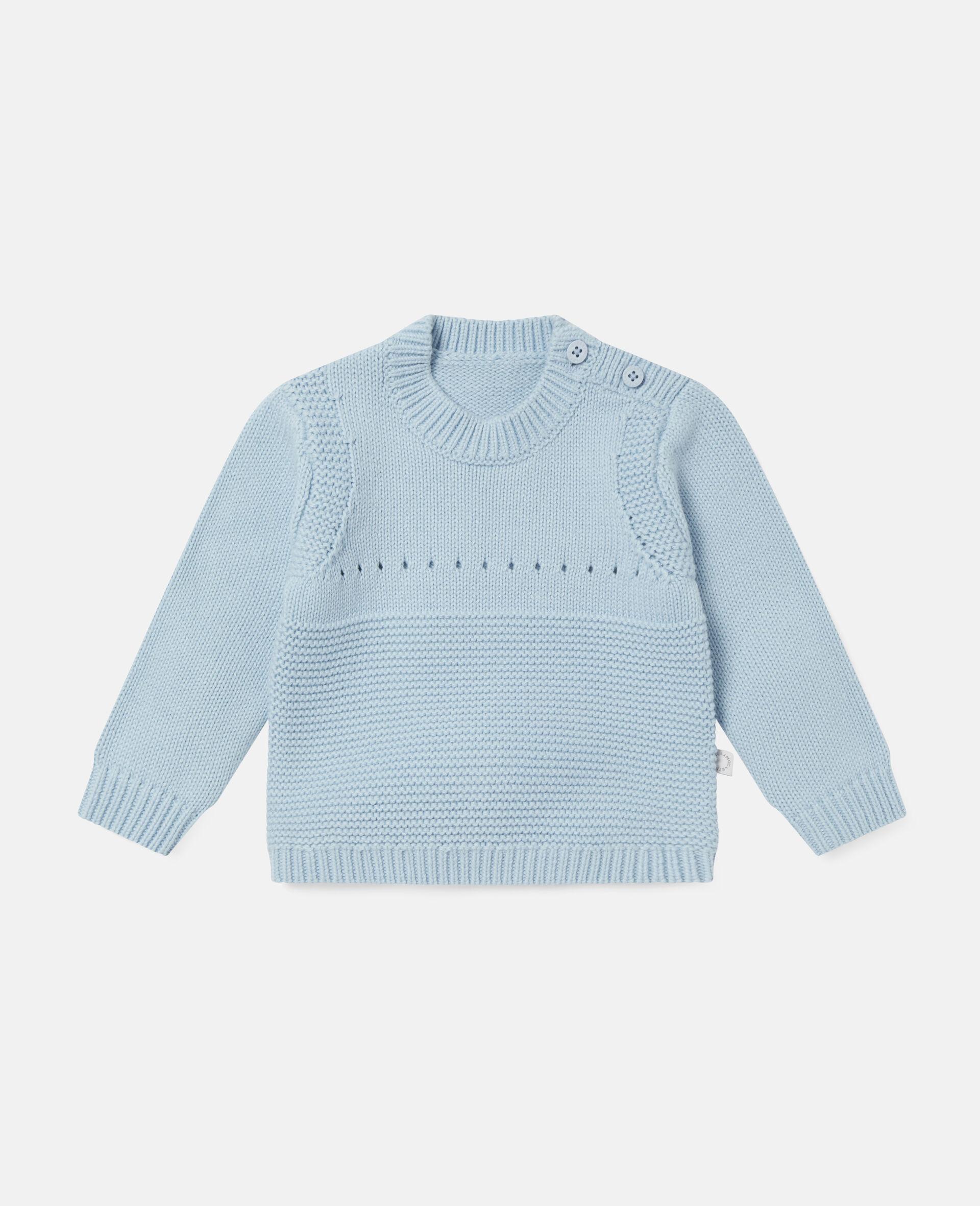 Happy Dog Knit Intarsia Sweater-Blue-large image number 0
