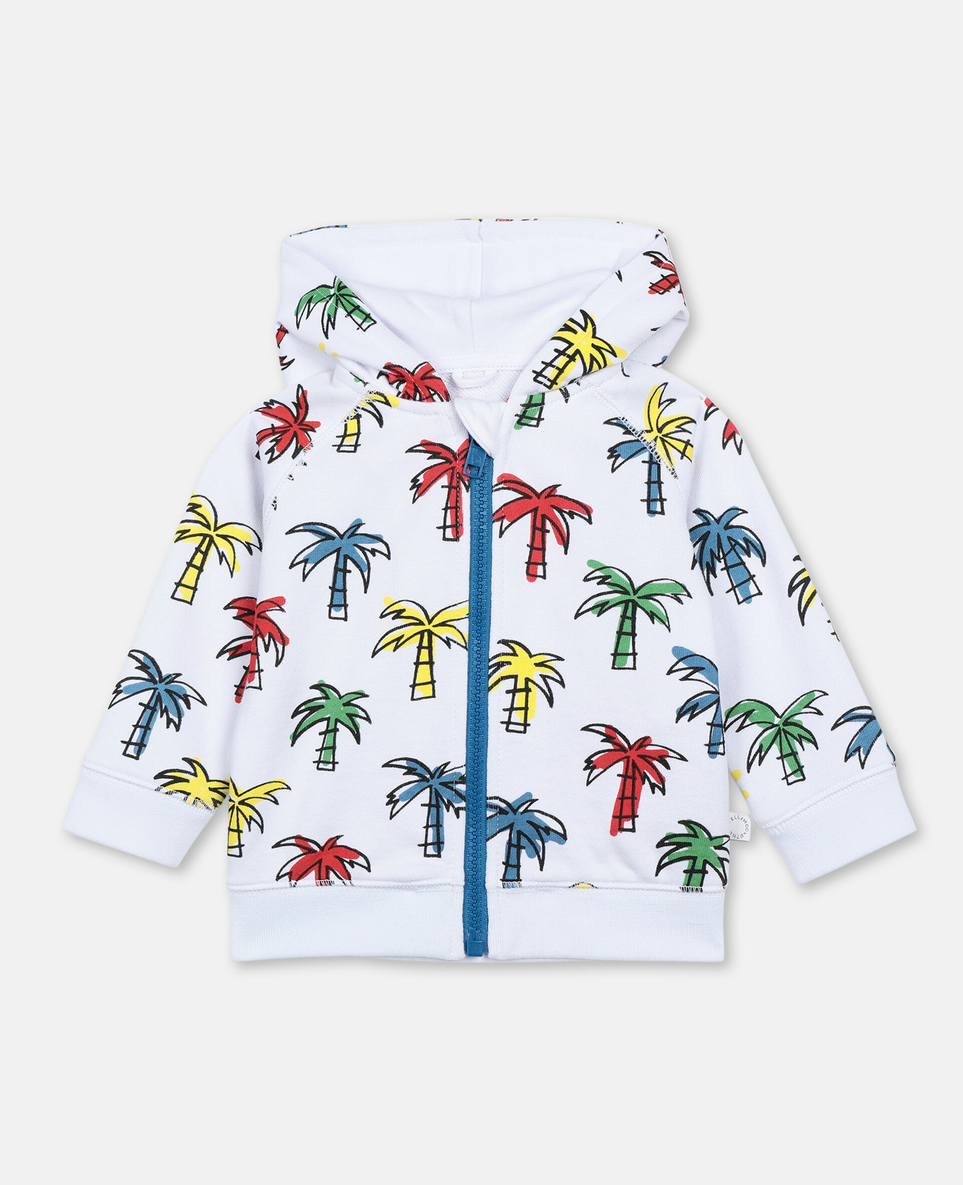 Doodly Palms Cotton Hoodie-Multicoloured-large image number 0