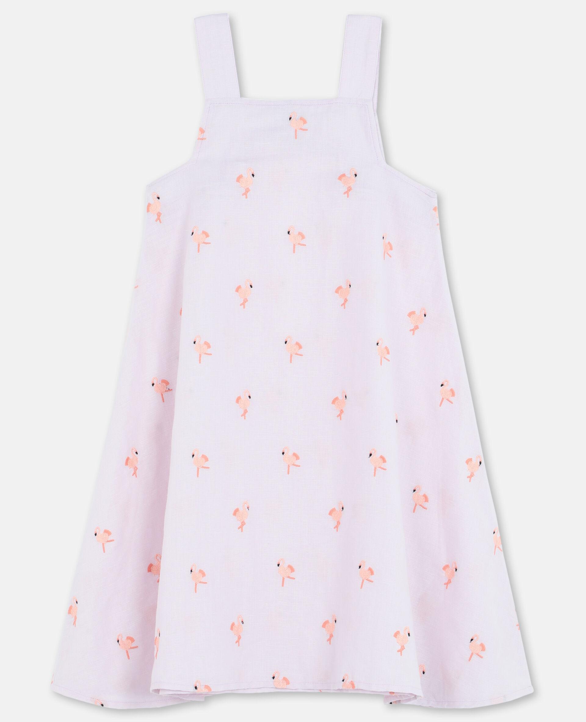 Embroidered Flamingo Dress-Pink-large image number 3