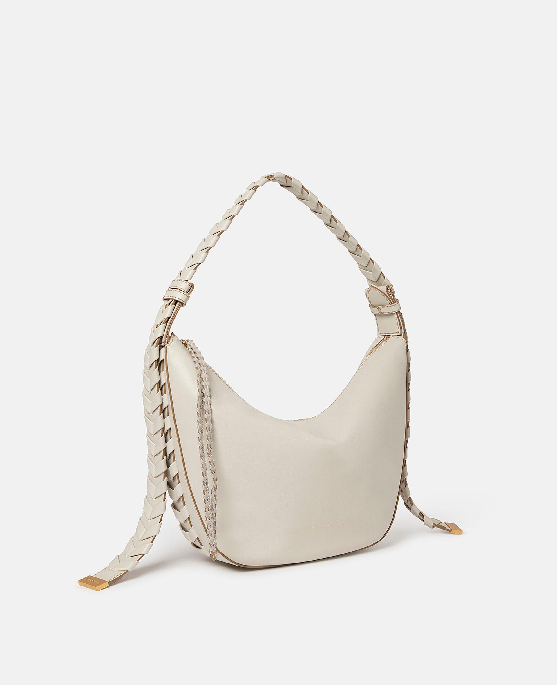 Medium Zip Hobo Shoulder Bag-Black-large image number 1