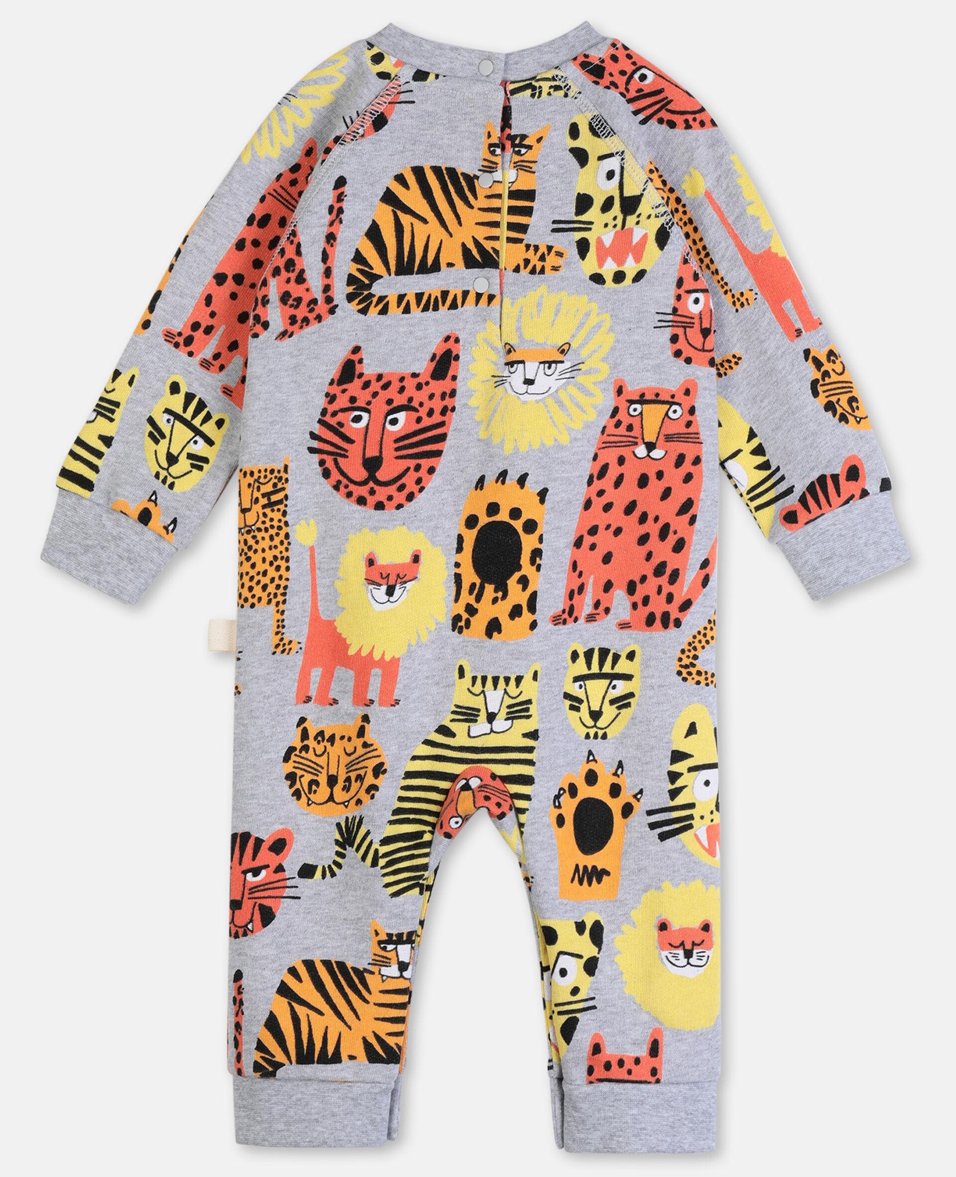 Wild Cats Cotton Jumpsuit-Multicolour-large image number 3